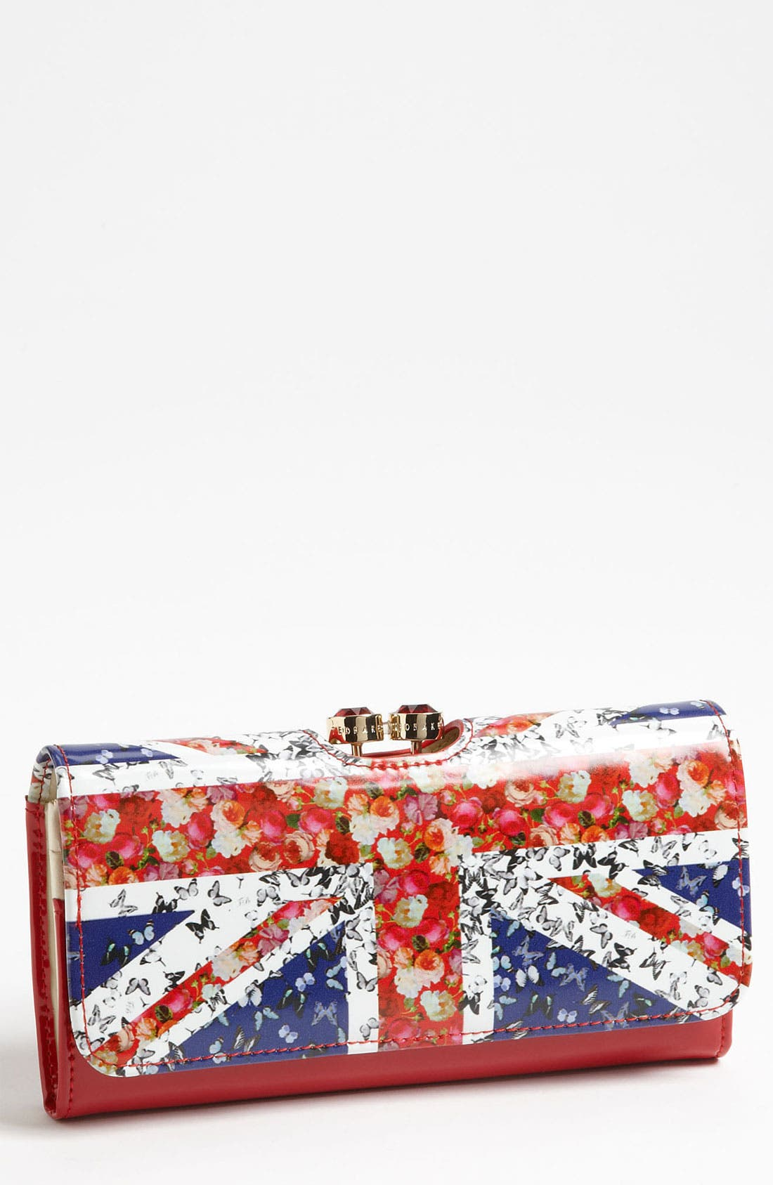 Alternate Image 1 Selected - Ted Baker London 'Union Jack - Crystal Bobble' Matinee Wallet