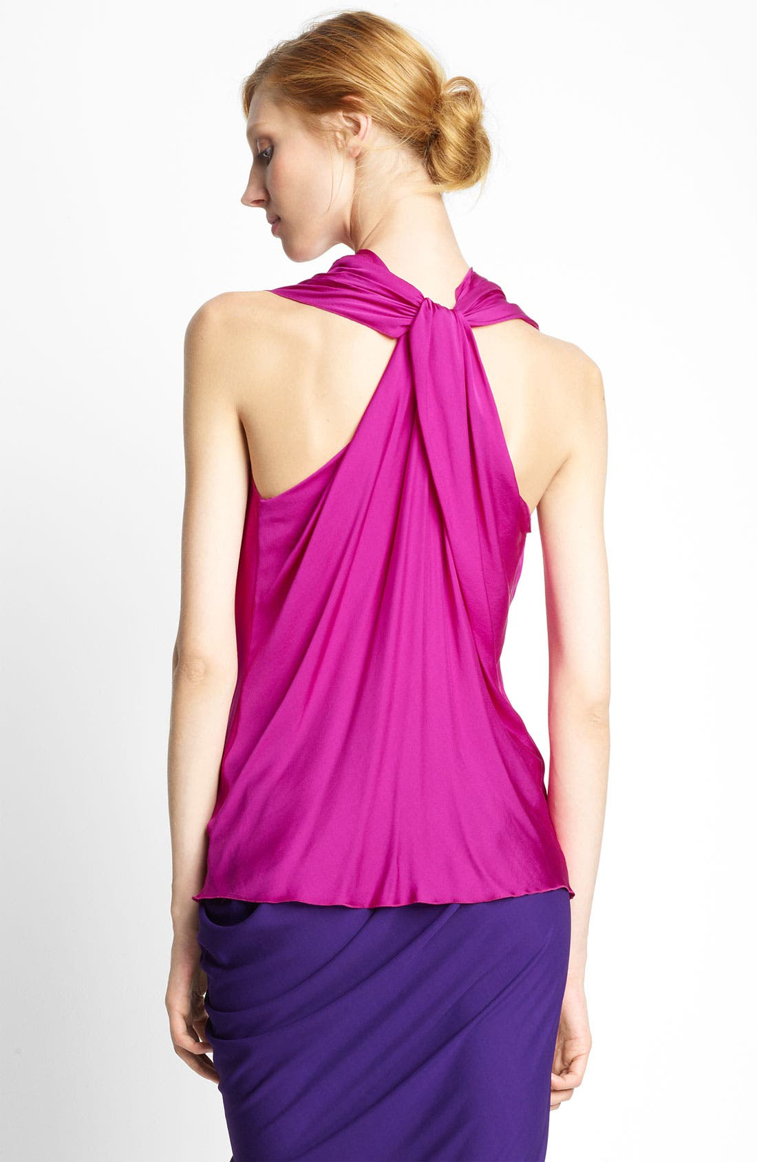 Alternate Image 2  - Lanvin Feather Silk Halter Blouse