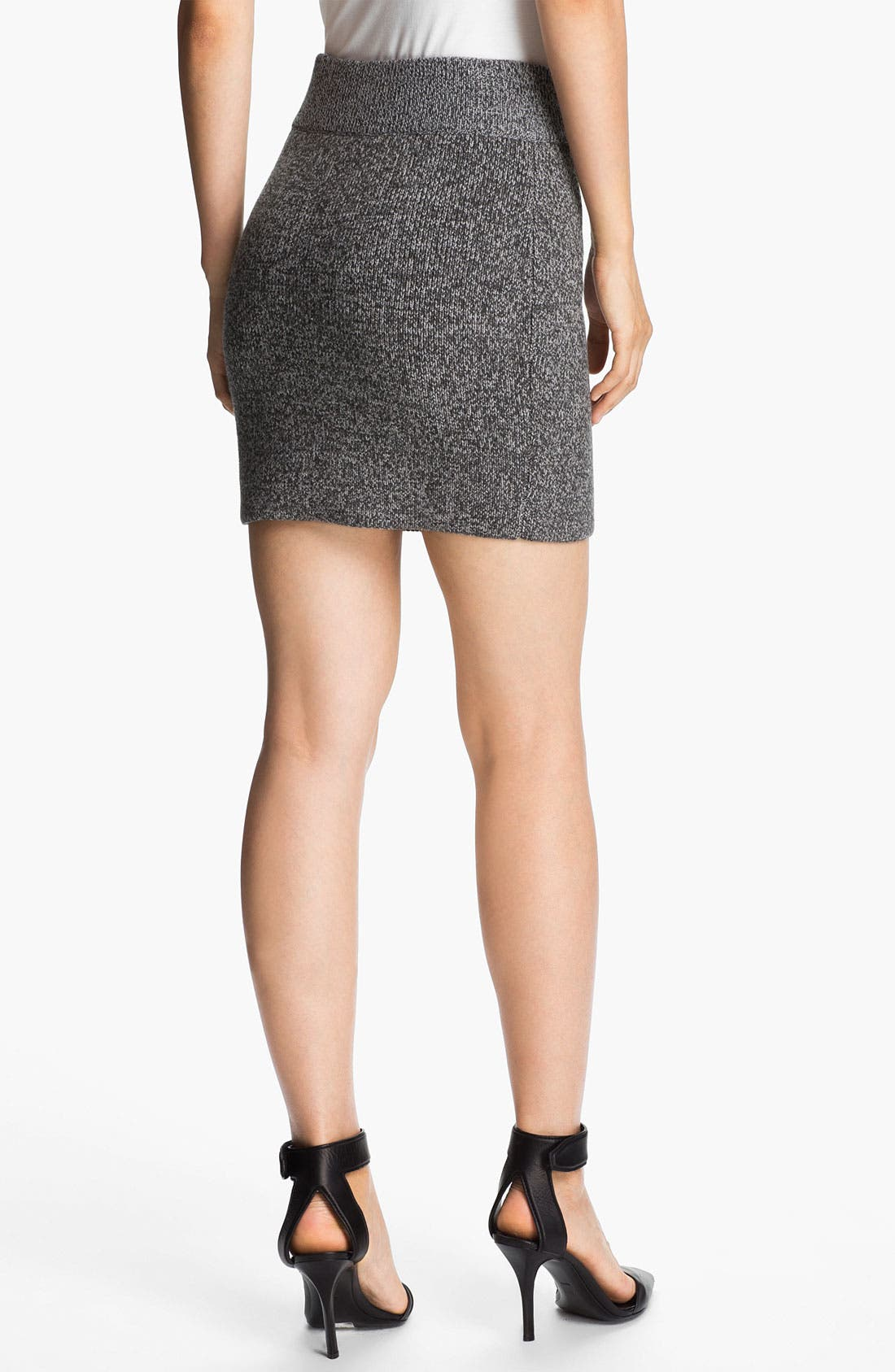 Alternate Image 2  - T by Alexander Wang Marled Knit Miniskirt