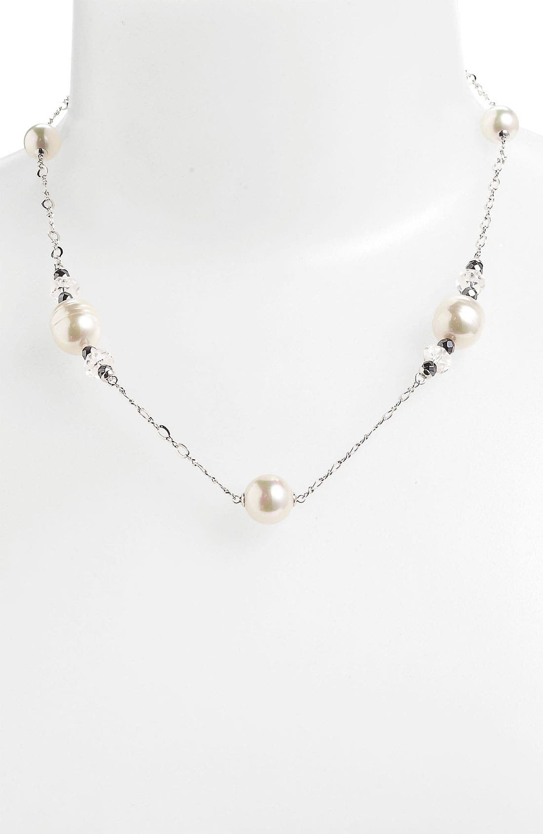 Alternate Image 1 Selected - Majorica Pearl Station Necklace
