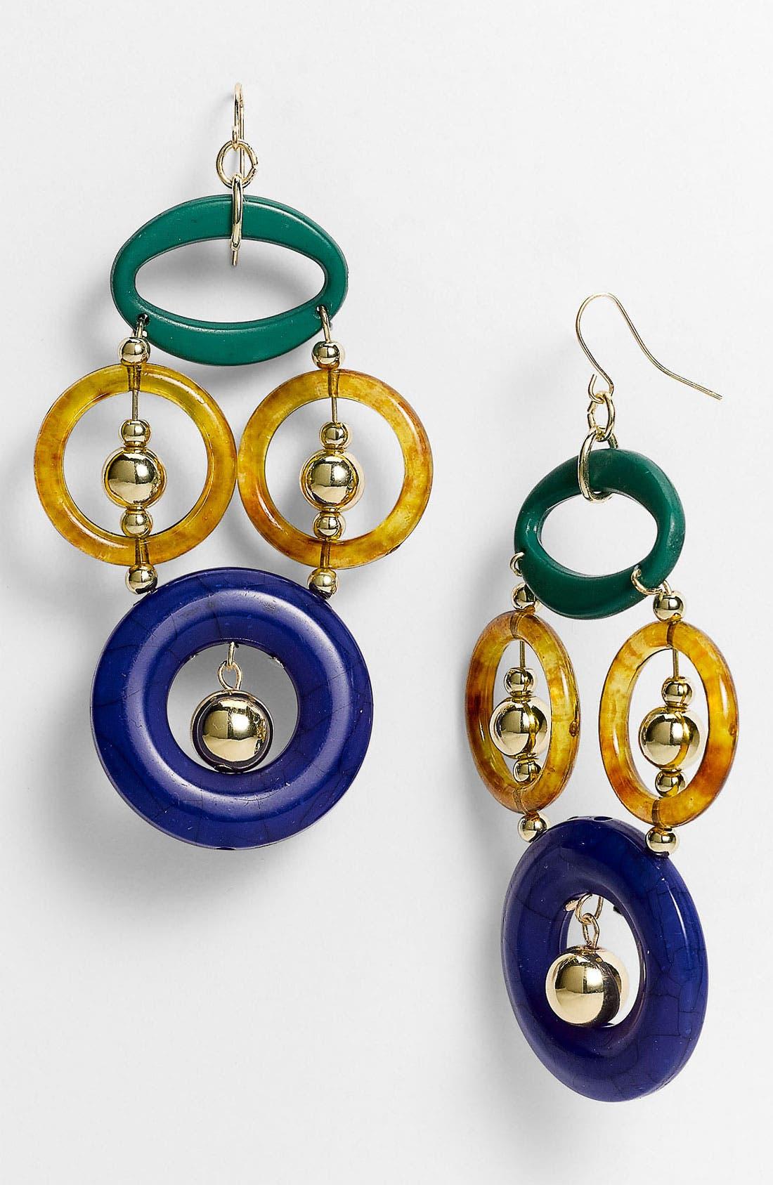 Alternate Image 1 Selected - Spring Street Design Group Multicolor Resin Earrings