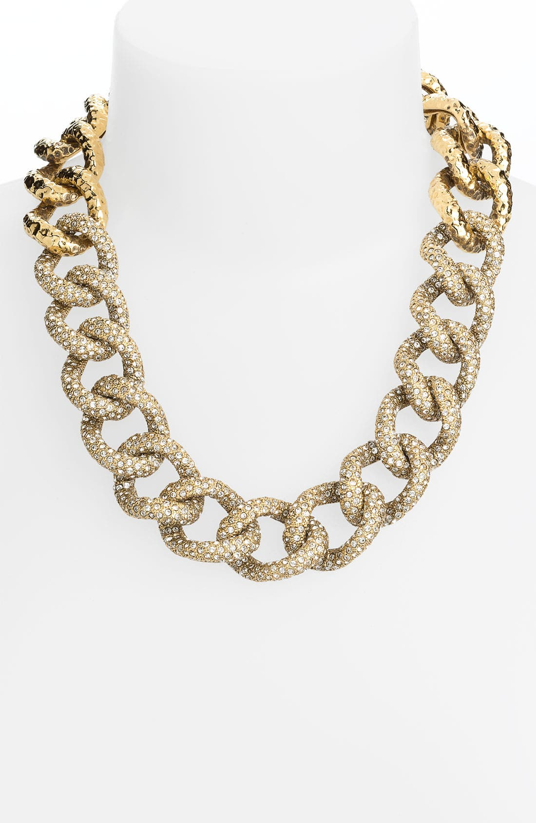 Alternate Image 1 Selected - St. John Collection Antique Gold & Crystal Necklace