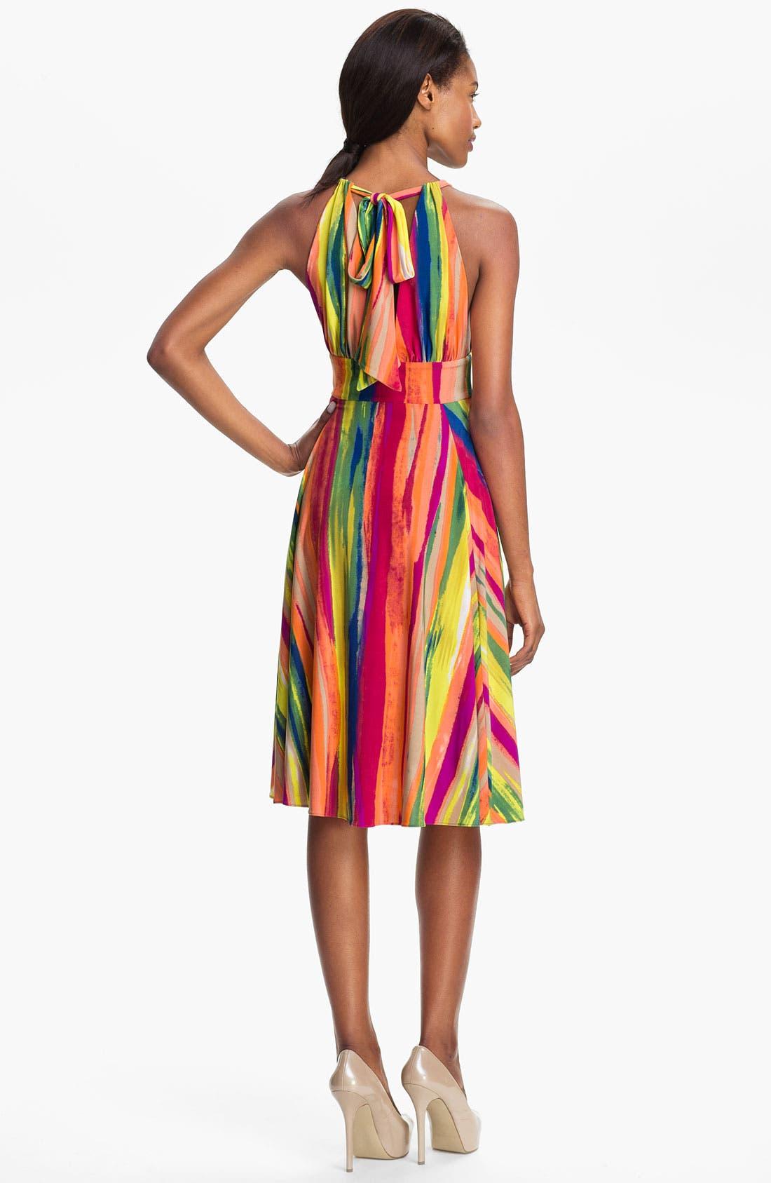 Alternate Image 2  - Abi Ferrin 'Gloria' Print Jersey Fit & Flare Halter Dress
