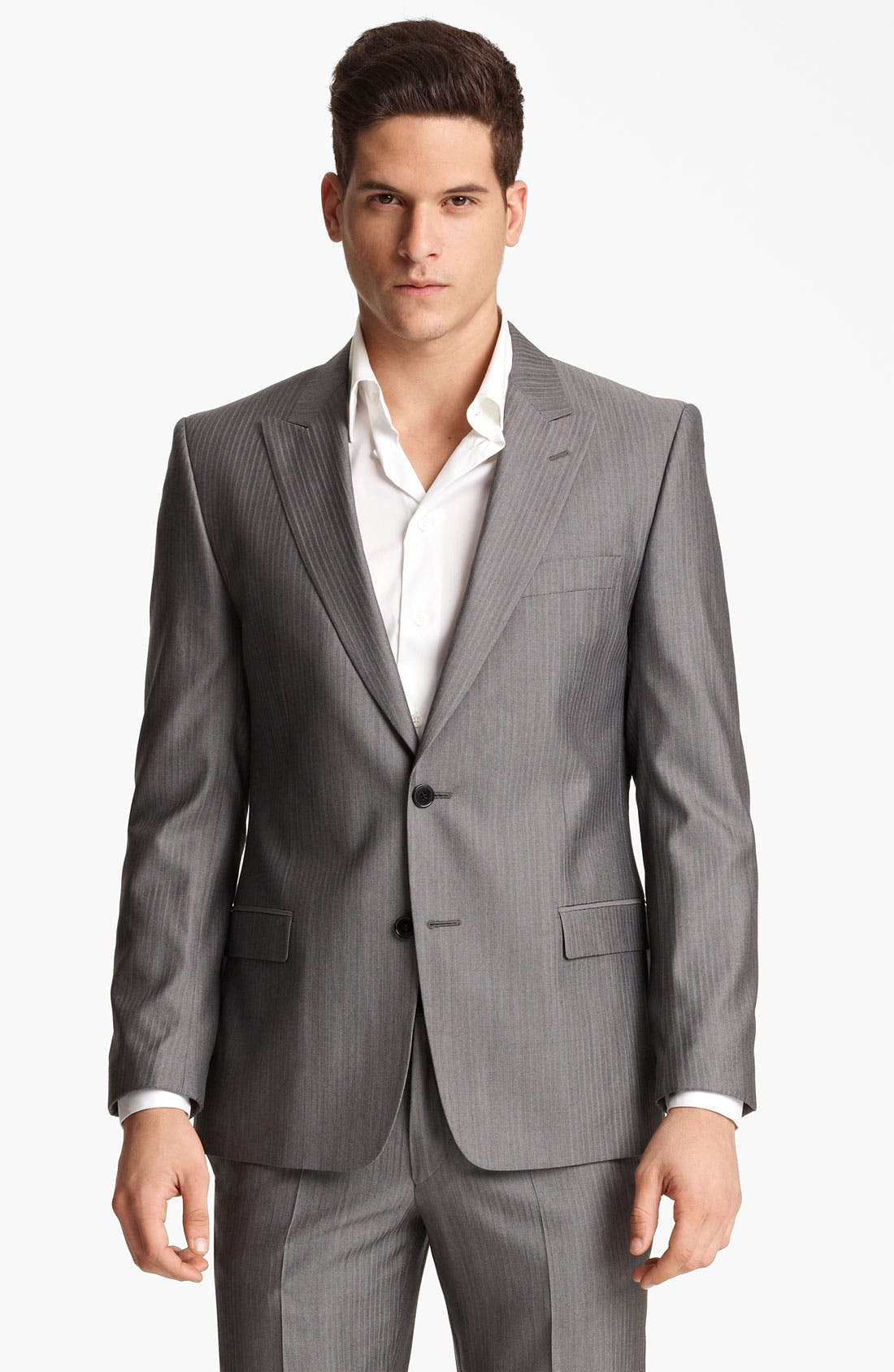 Alternate Image 1 Selected - Versace Trim Fit Stripe Suit