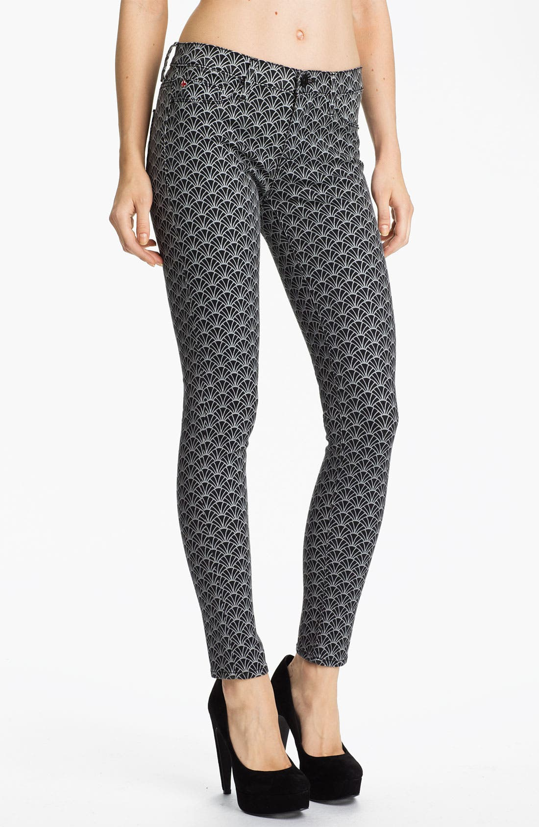 Alternate Image 1 Selected - Hudson Jeans 'Nico' Mid Rise Skinny Stretch Jeans (Diamond Art Deco)