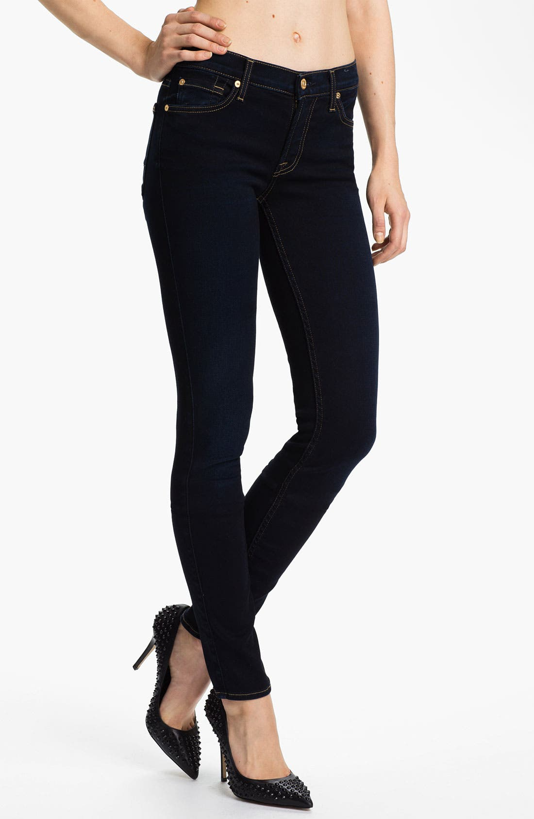 Main Image - 7 For All Mankind® 'Roxanne' Skinny Stretch Jeans (Illustrious Blue)