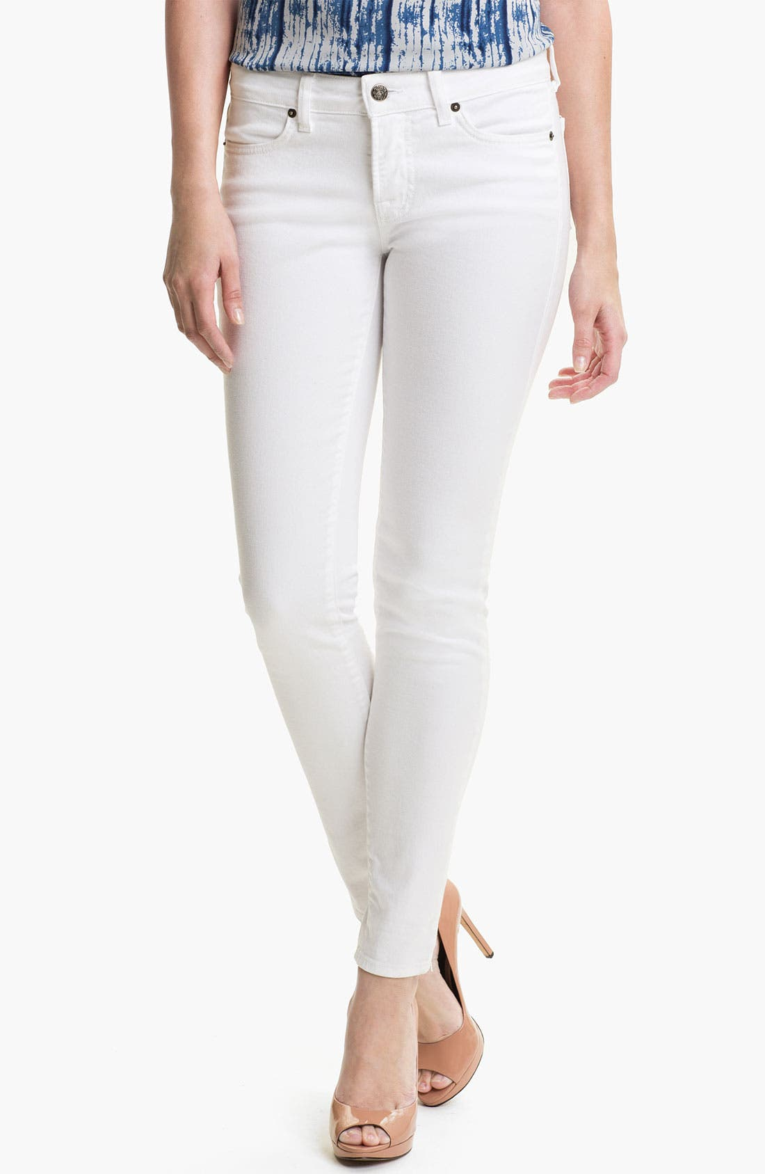 Alternate Image 1 Selected - Blue Essence Color Skinny Jeans (Nordstrom Exclusive)