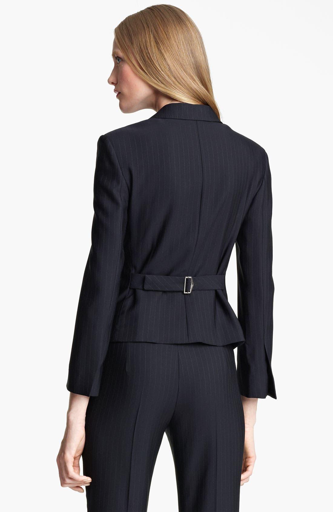 Alternate Image 2  - Armani Collezioni Pinstripe Jacket with Attached Vest