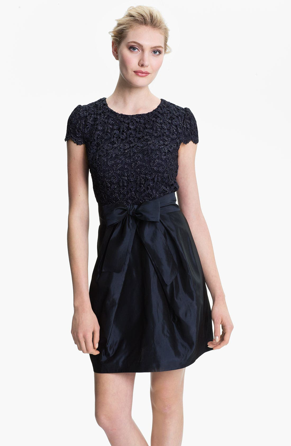 Main Image - Suzi Chin for Maggy Boutique Lace & Taffeta Dress