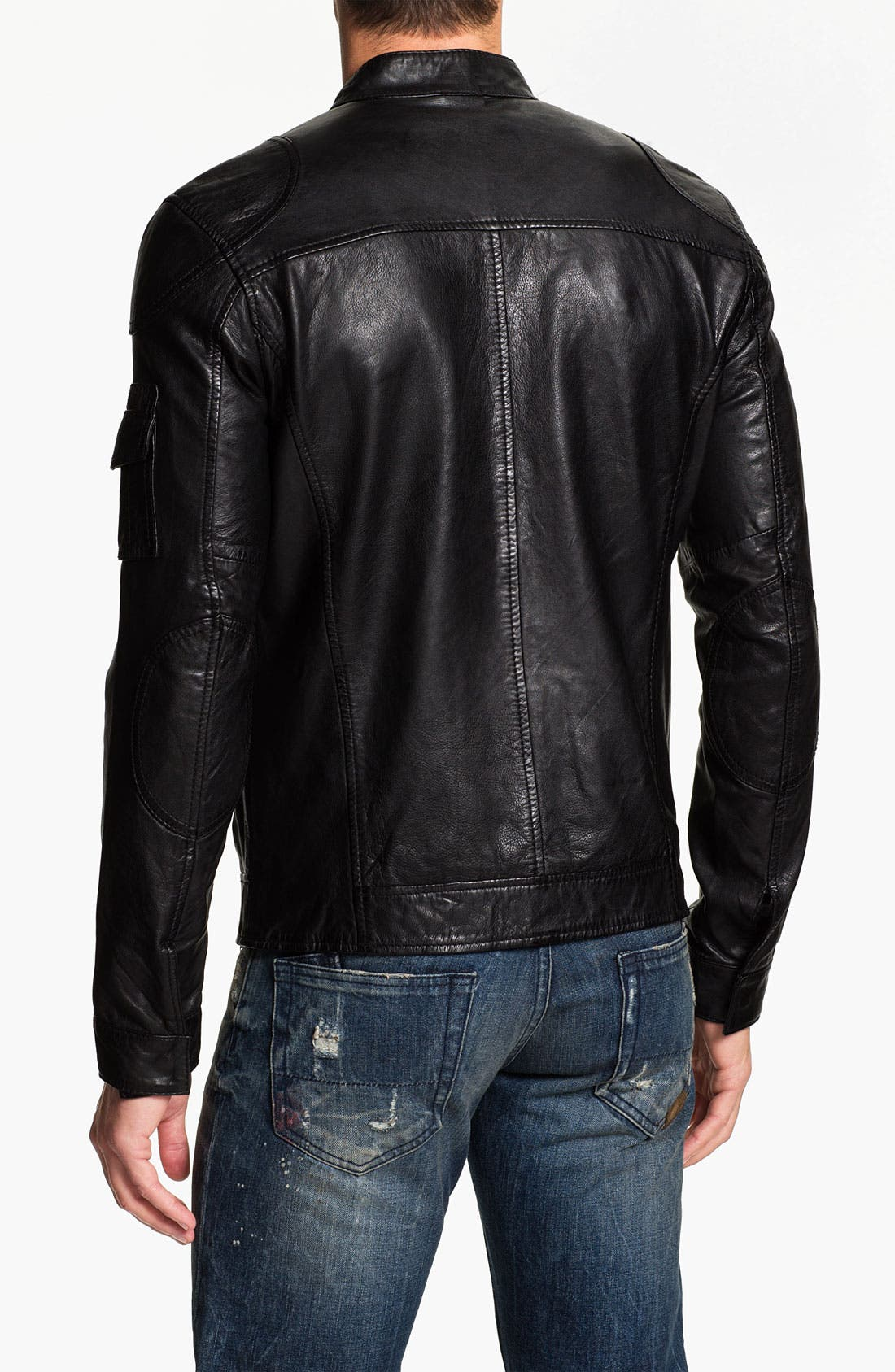 Alternate Image 2  - 7 Diamond 'Konick' Leather Moto Jacket