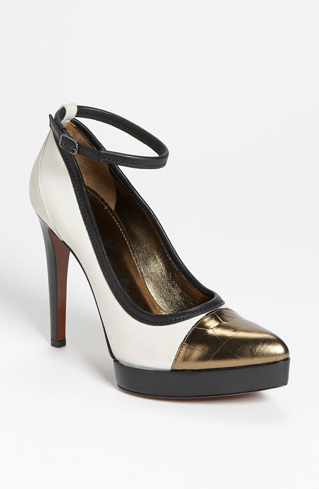 Alternate Image 1 Selected - Lanvin Ankle Strap Stiletto Pump
