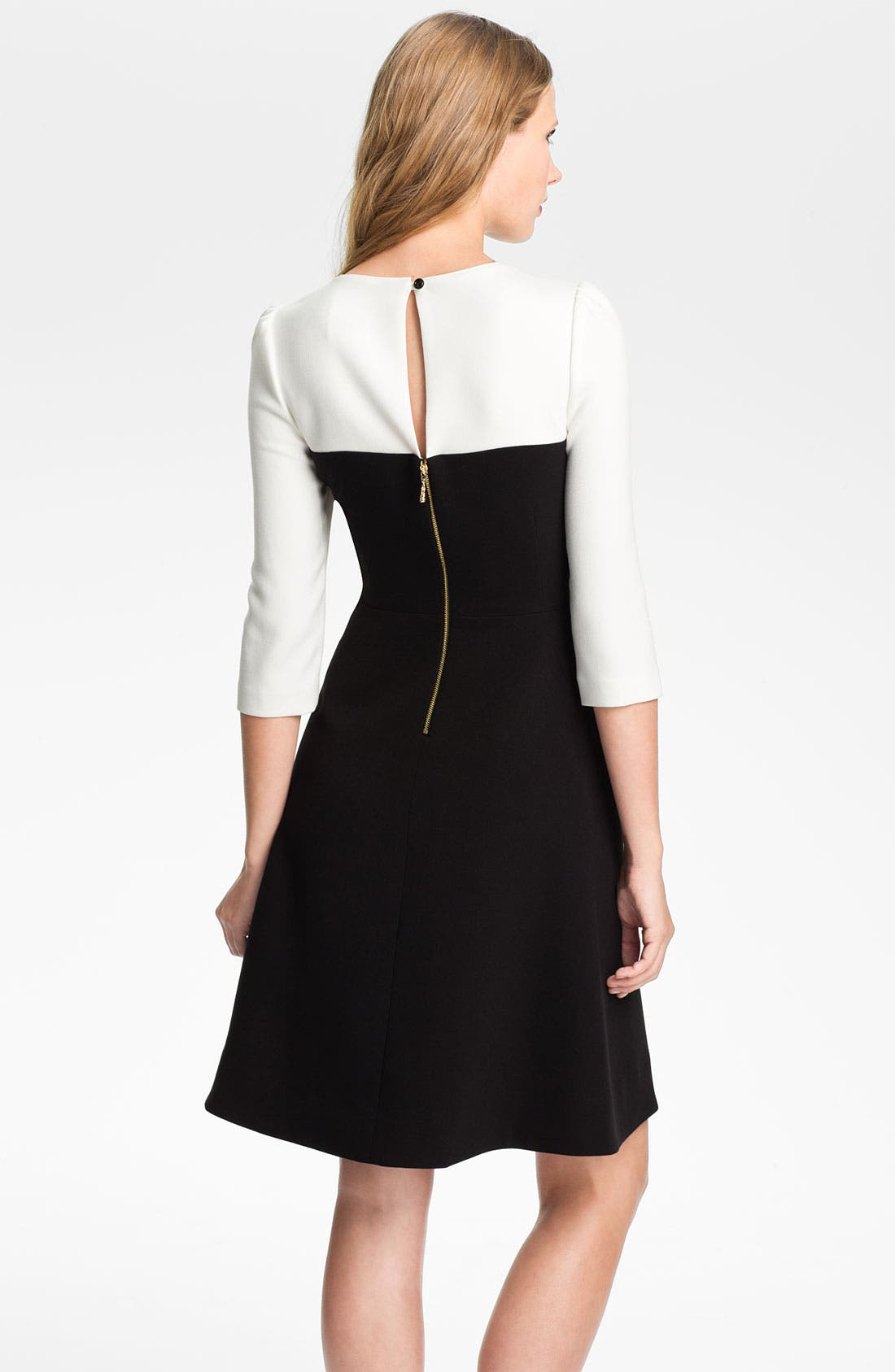 Alternate Image 2  - kate spade new york 'olsen' colorblock fit & flare dress
