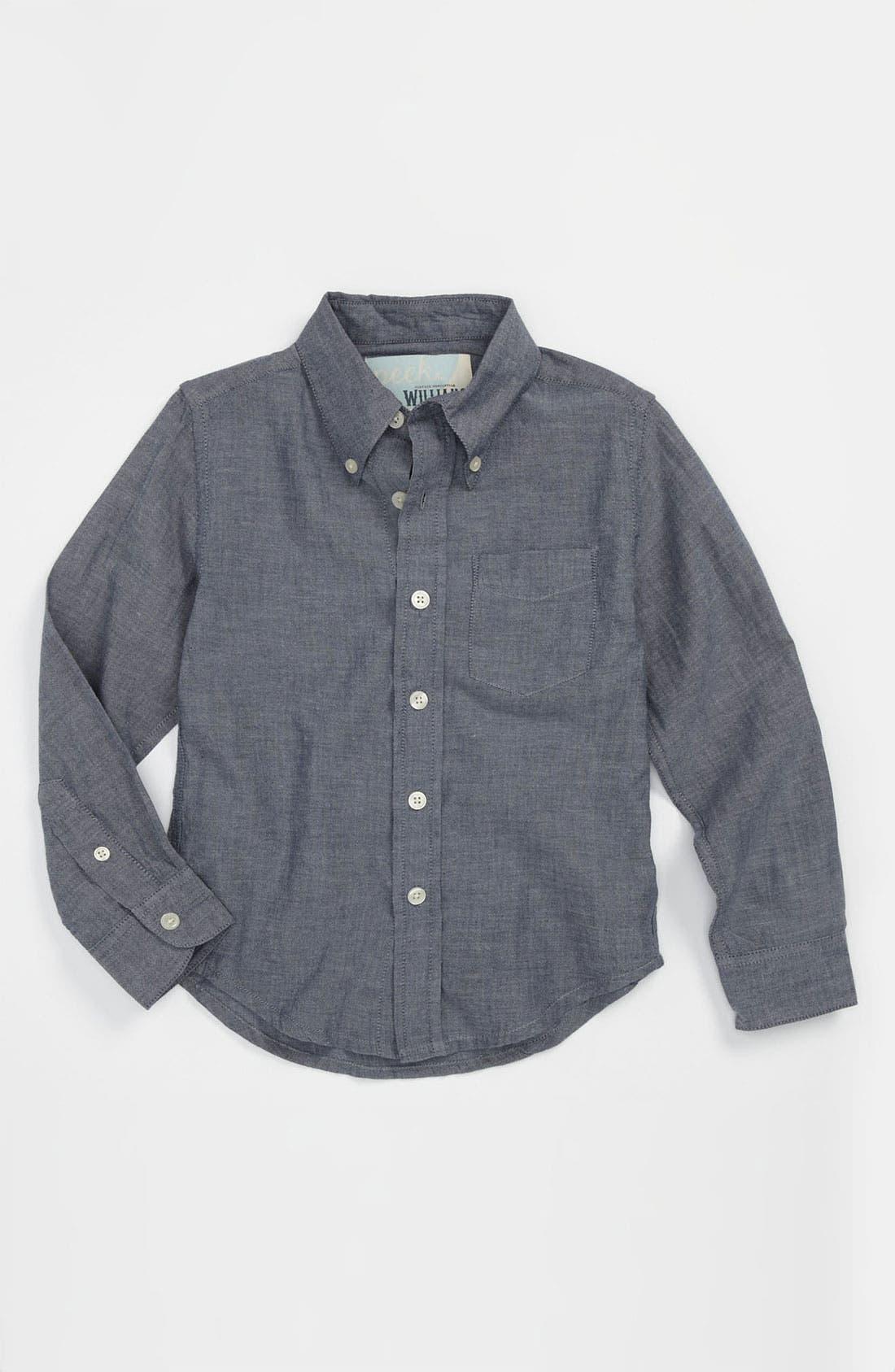 Main Image - Peek 'Clifton' Chambray Shirt (Toddler, Little Boys & Big Boys)