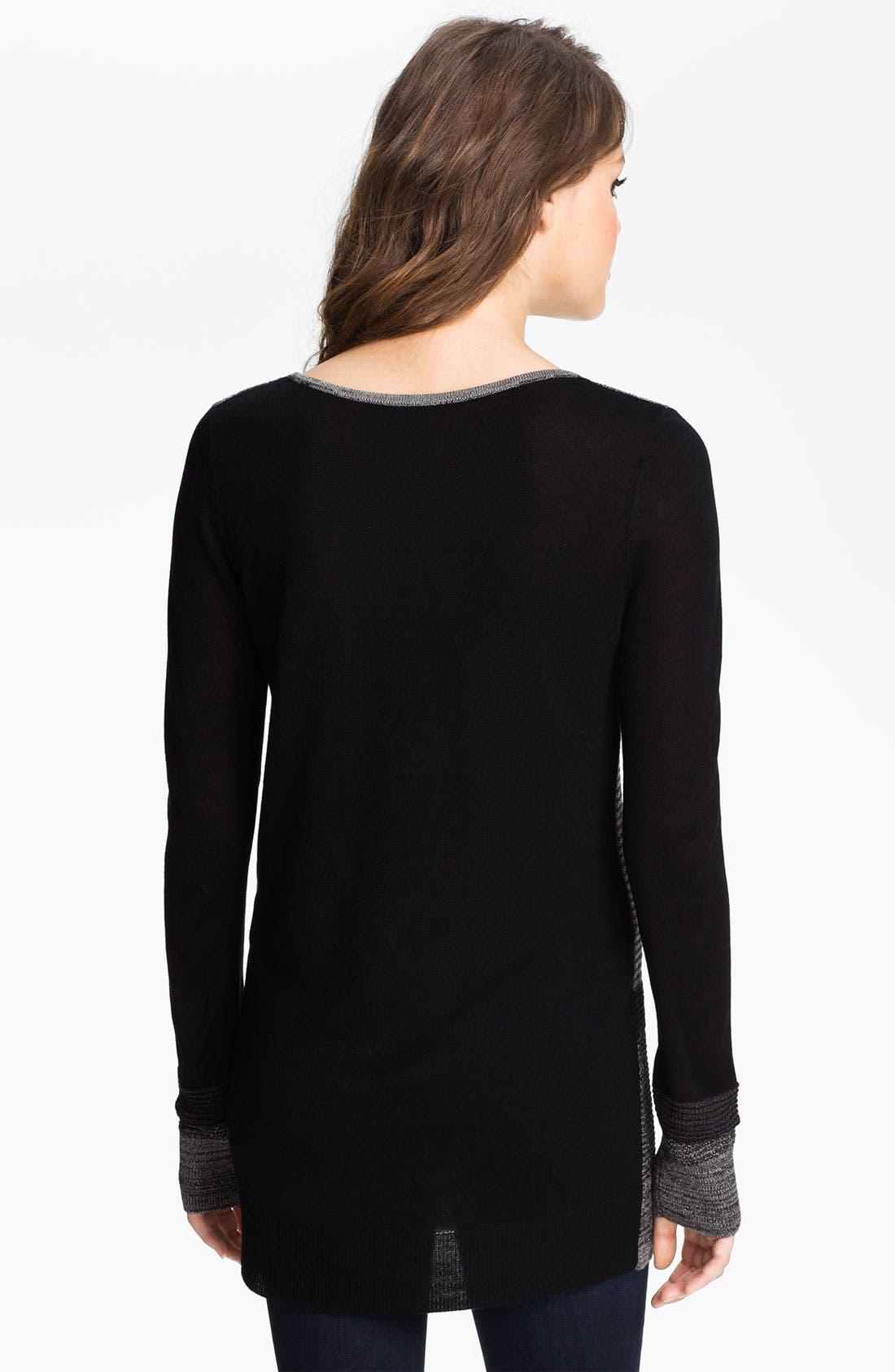 Alternate Image 2  - Hinge® Metallic Stripe Sweater