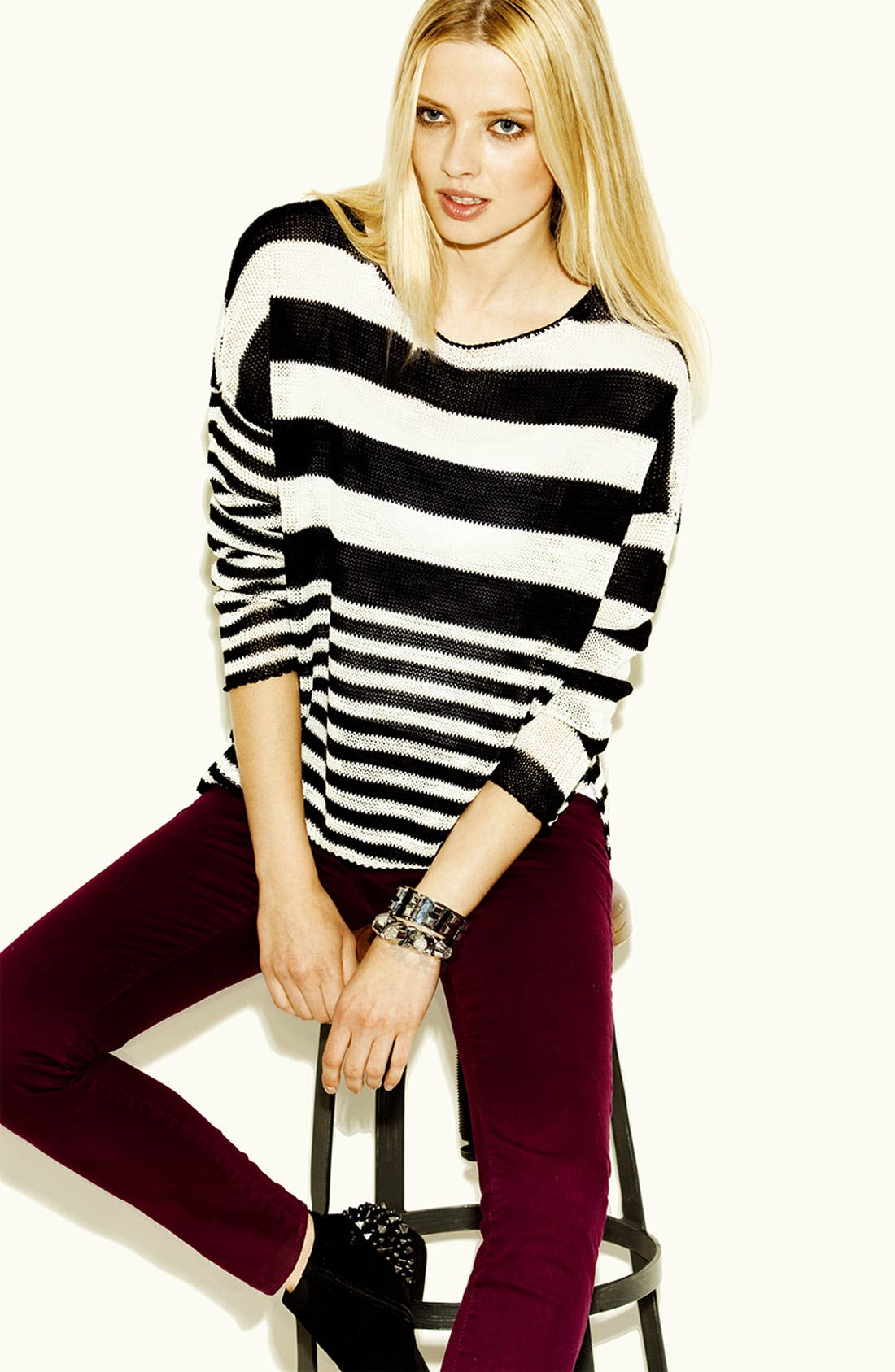 Alternate Image 4  - Two by Vince Camuto Boatneck Sweater