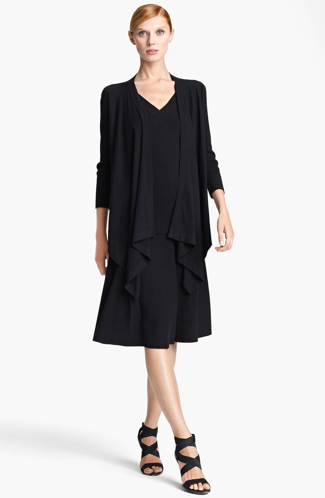 Main Image - Donna Karan Collection Ribbed Sleeve Cozy