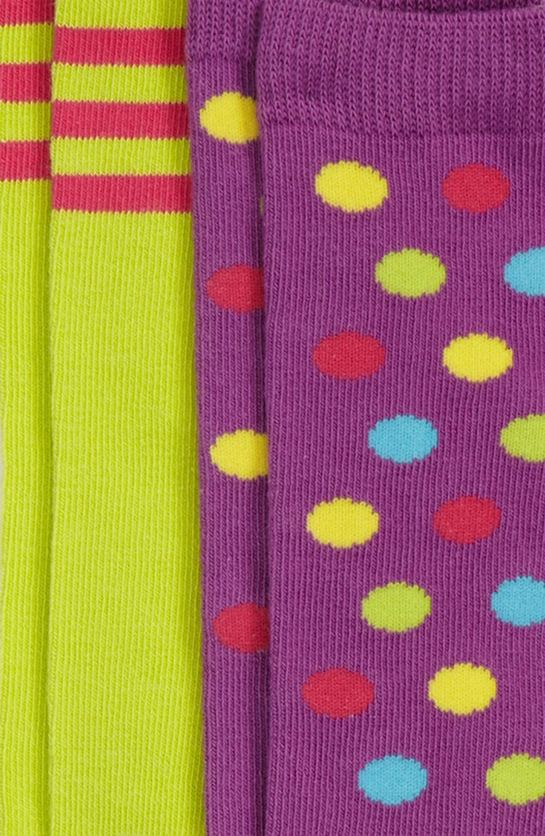 Alternate Image 2  - Nordstrom 'Mix & Match' Knee Socks (2-Pack) (Girls)