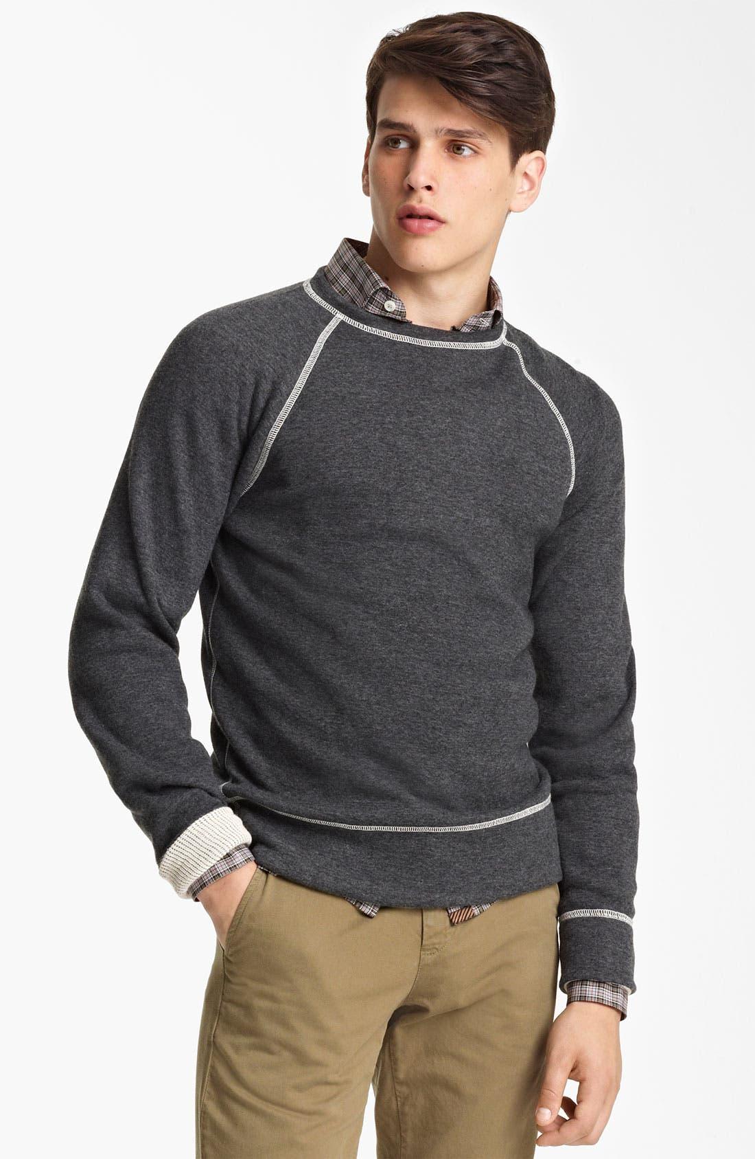 Alternate Image 1 Selected - Billy Reid Raglan Crewneck Sweatshirt