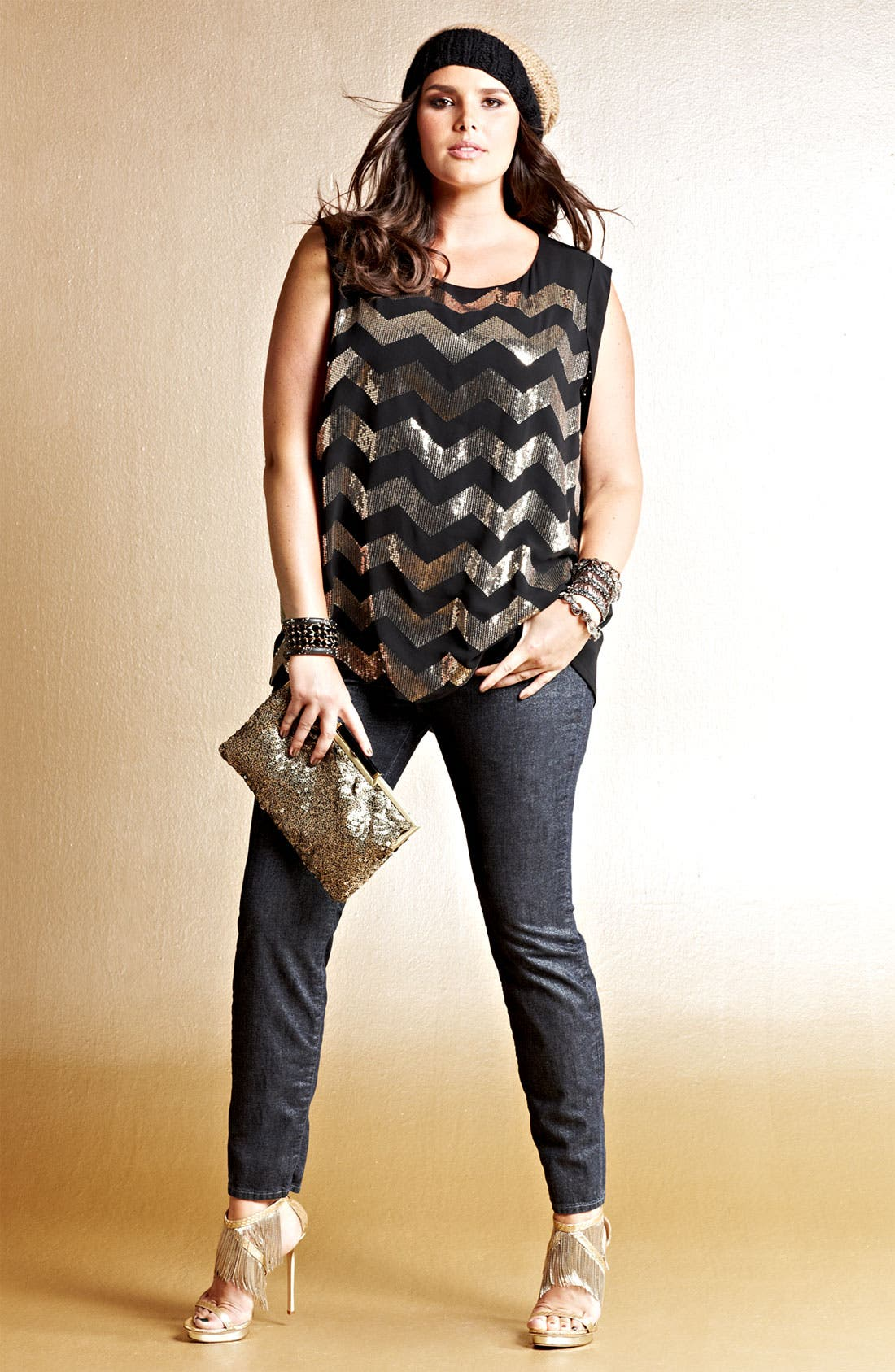 Alternate Image 1 Selected - Vince Camuto Blouse & Lucky Brand Jeans