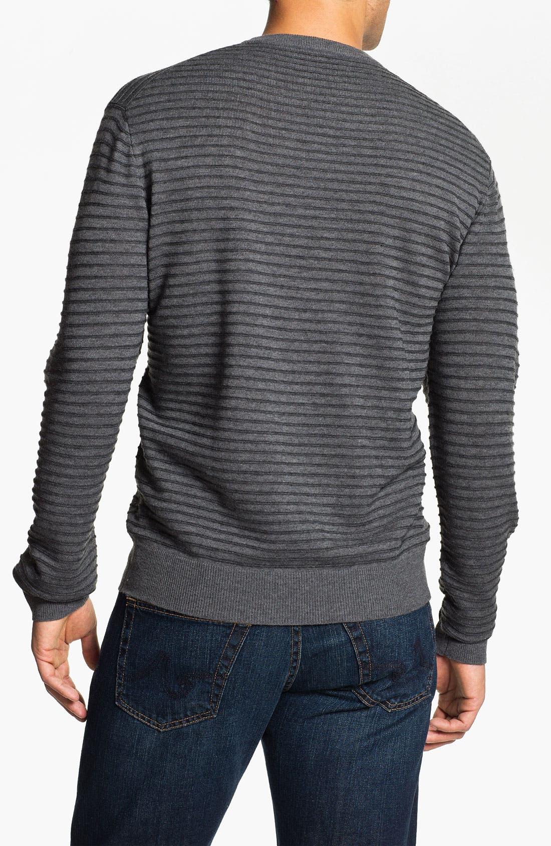 Alternate Image 2  - Toscano Merino Wool Blend Crewneck Sweater