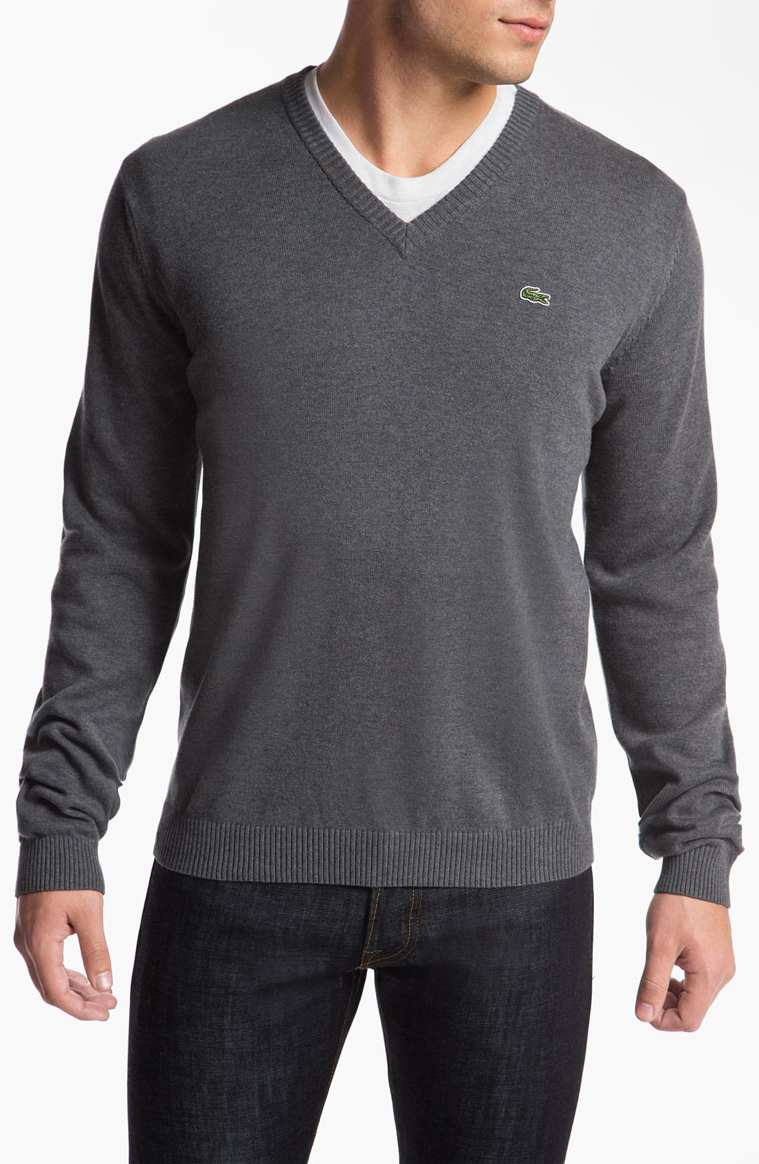 Main Image - Lacoste 'Classic' V-Neck Sweater
