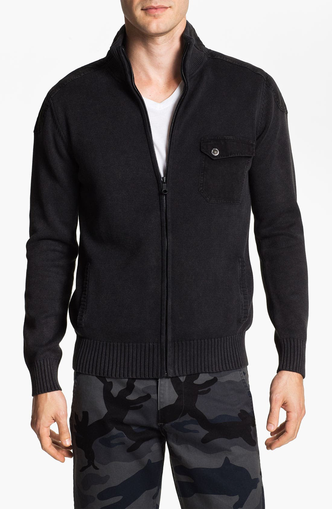 Main Image - R44 Rogan Standard Issue 'Triumph' Organic Cotton Zip Cardigan