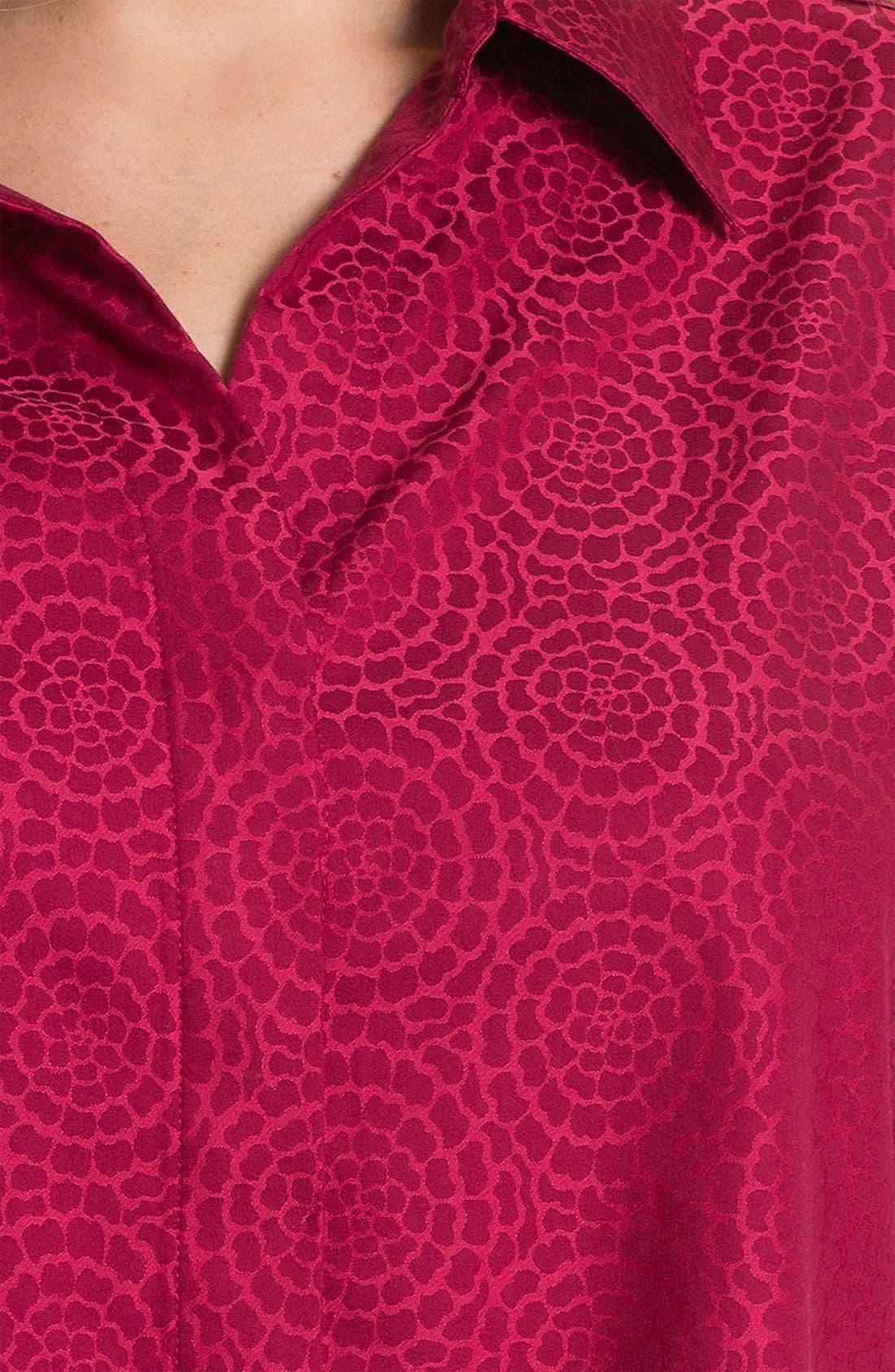 Alternate Image 3  - Foxcroft 'Chrysanthemum' Wrinkle Free Shaped Shirt (Plus)