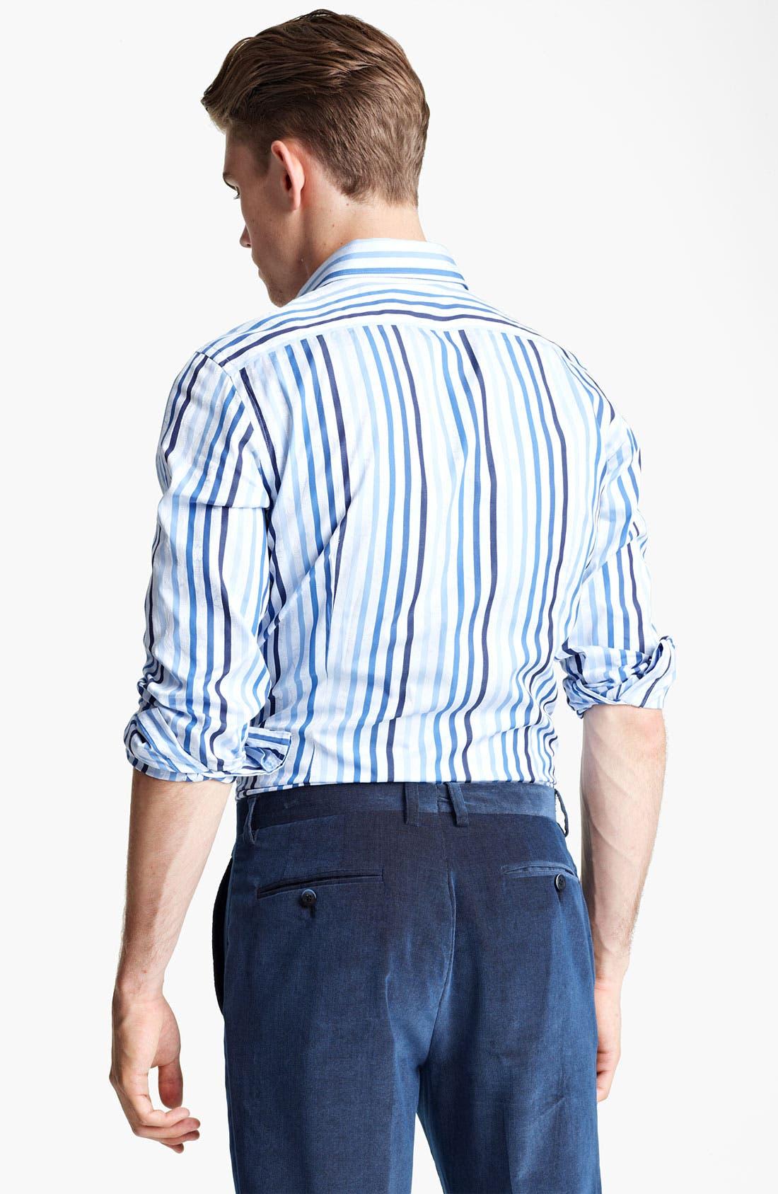 Alternate Image 2  - Etro Stripe Jacquard Print Dress Shirt