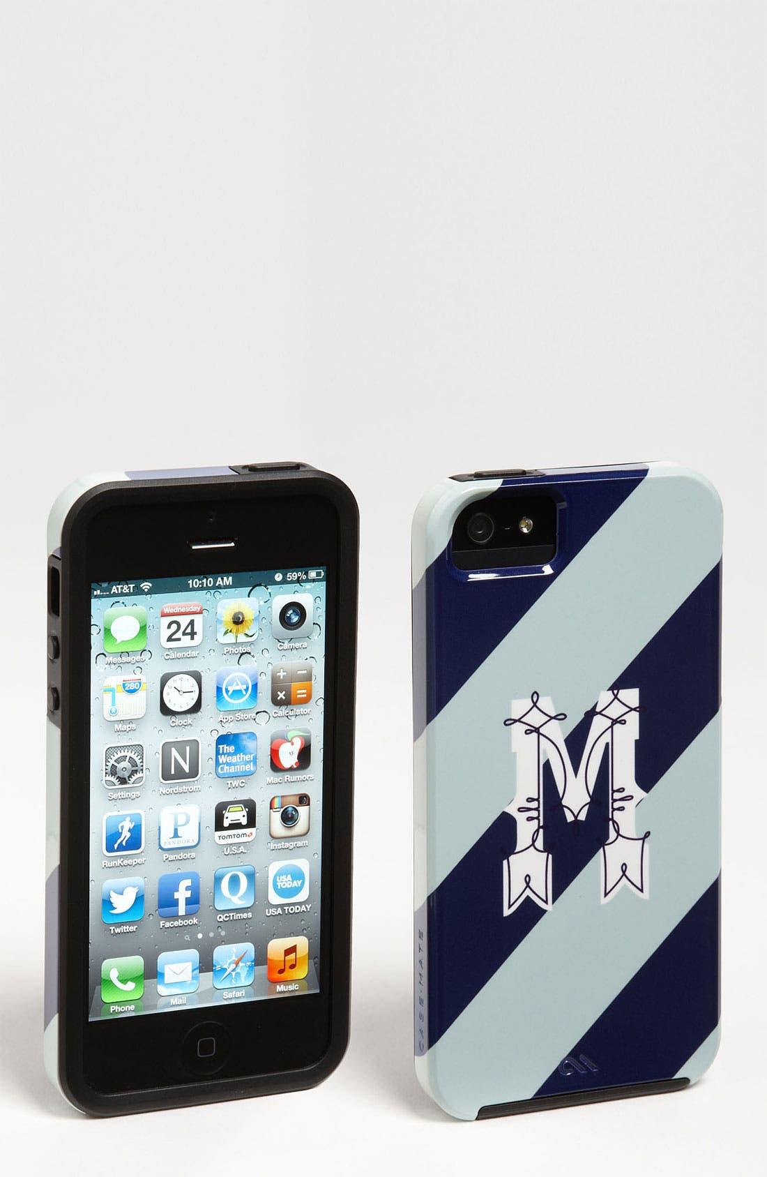 Alternate Image 1 Selected - Case-Mate® 'Monogram Diagonal Stripe' iPhone 5 Case (Nordstrom Exclusive)