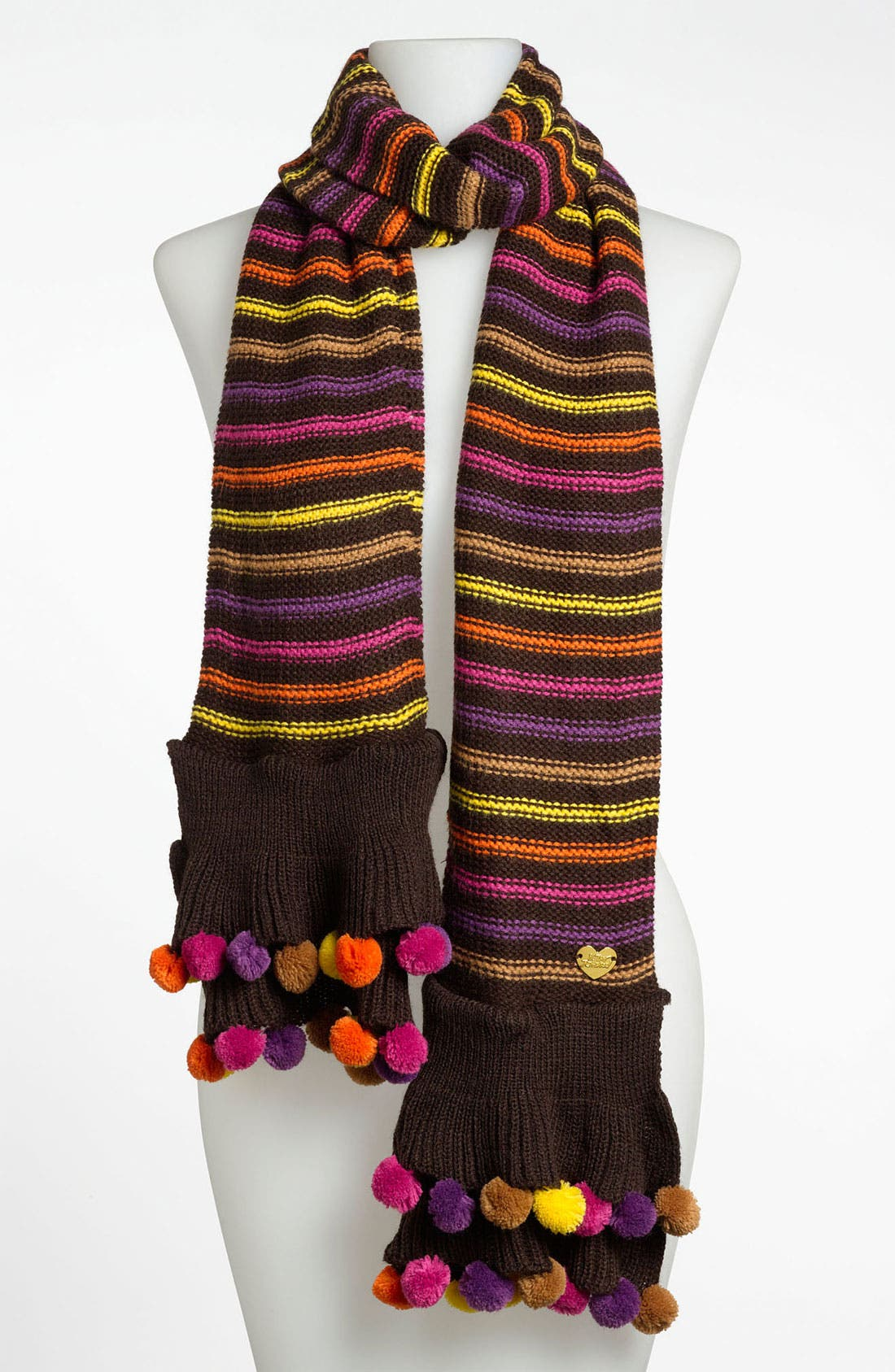 Main Image - Betsey Johnson 'Pompom Party' Muffler