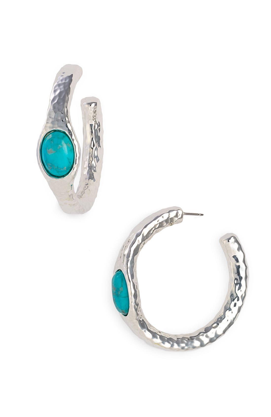 Alternate Image 1 Selected - Simon Sebbag Stone Hoop Earrings