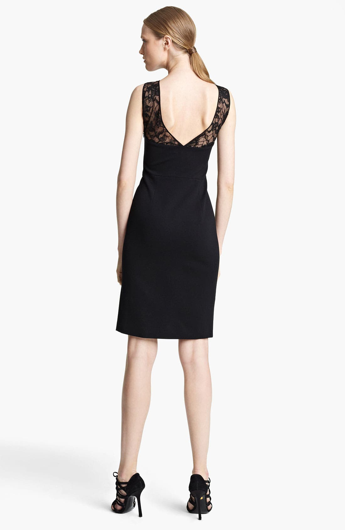 Alternate Image 2  - Emilio Pucci Lace Yoke Punto Milano Dress