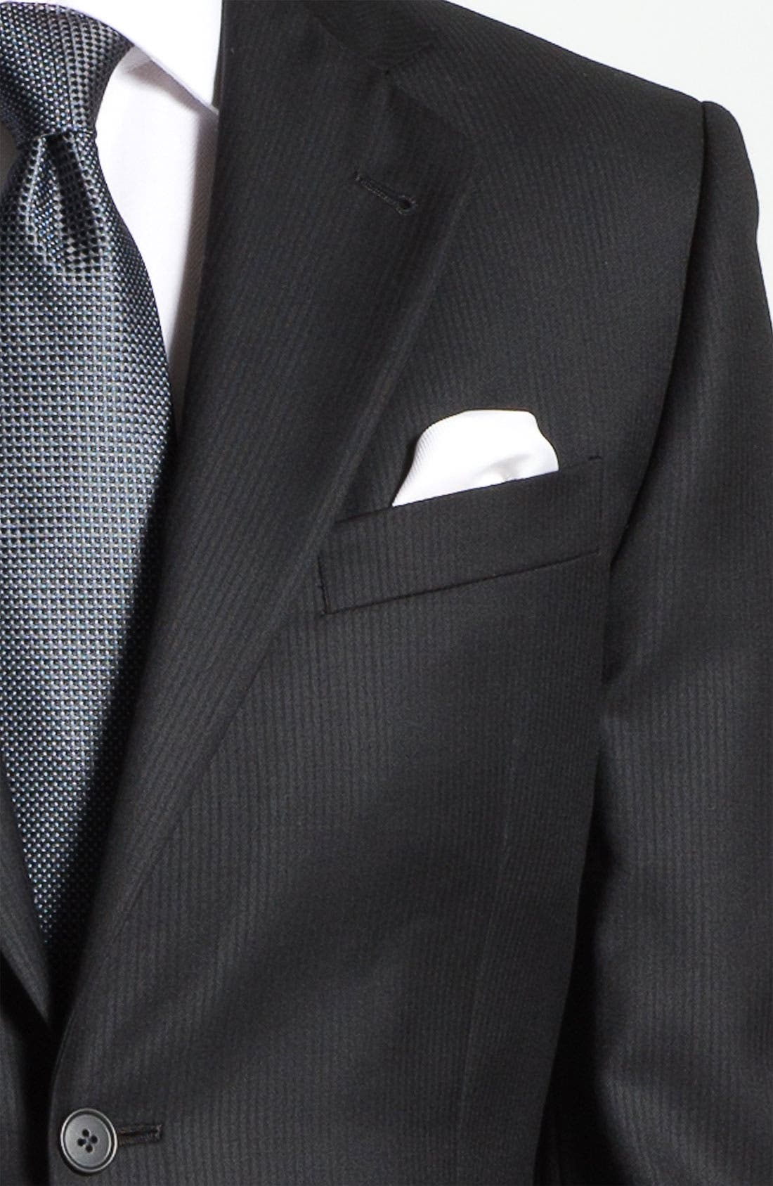 Alternate Image 5  - Joseph Abboud Black Wool Suit