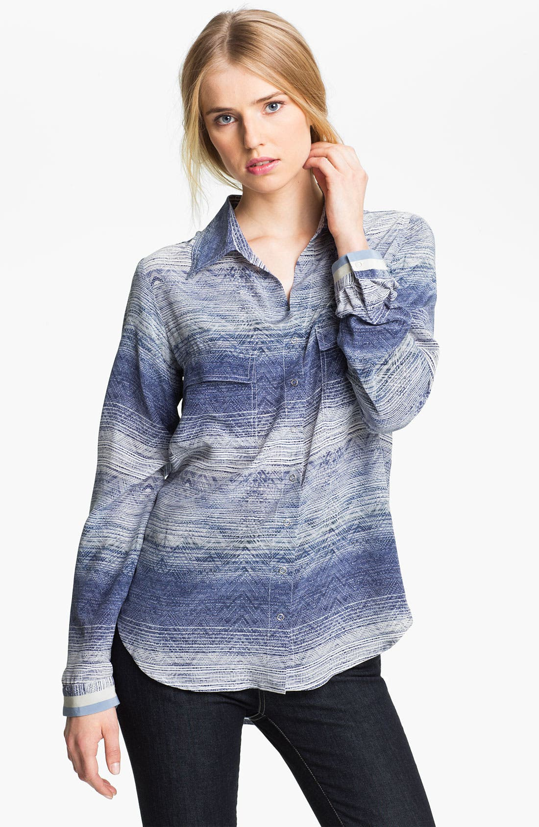 Alternate Image 1 Selected - L'AGENCE Print Silk Shirt
