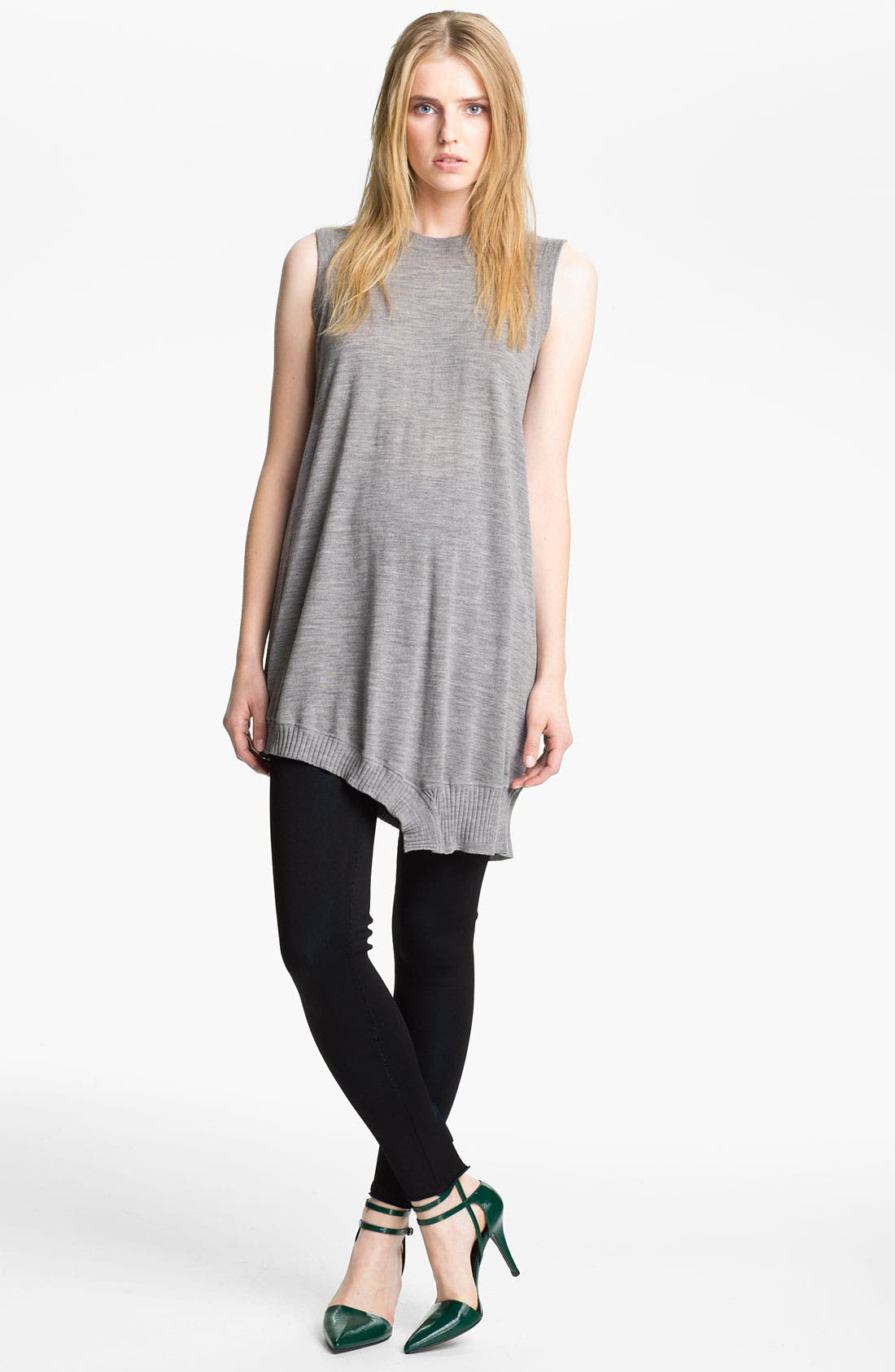 Alternate Image 1 Selected - Alexander Wang Draped Merino Wool Dress