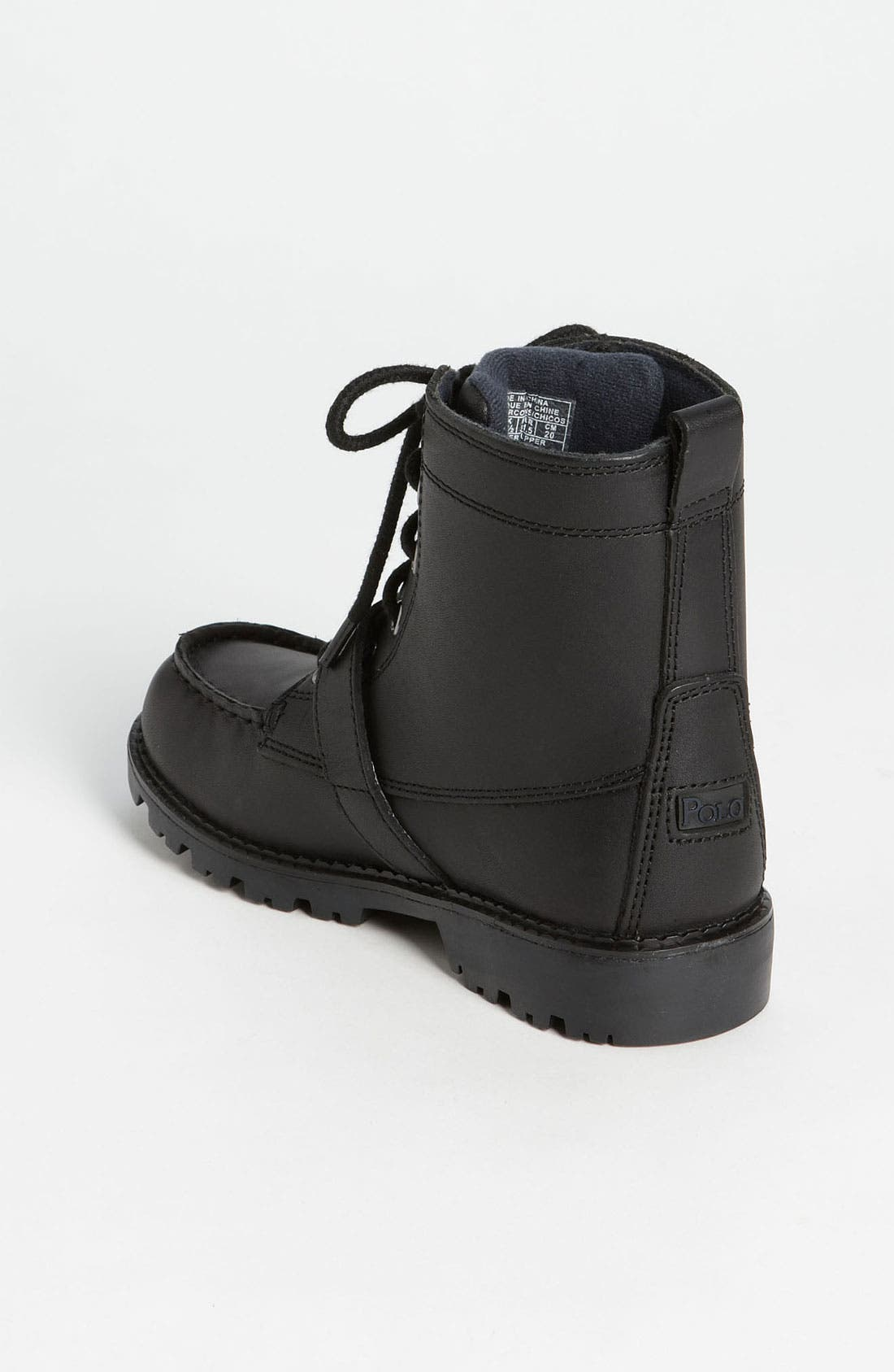 Alternate Image 2  - Polo Ralph Lauren Leather Boot (Toddler, Little Kid & Big Kid)