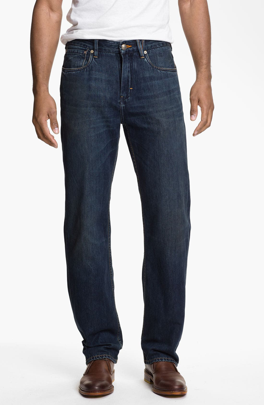 Main Image - Tommy Bahama Denim 'Coastal Island Ease' Straight Leg Jeans (Dark Storm)