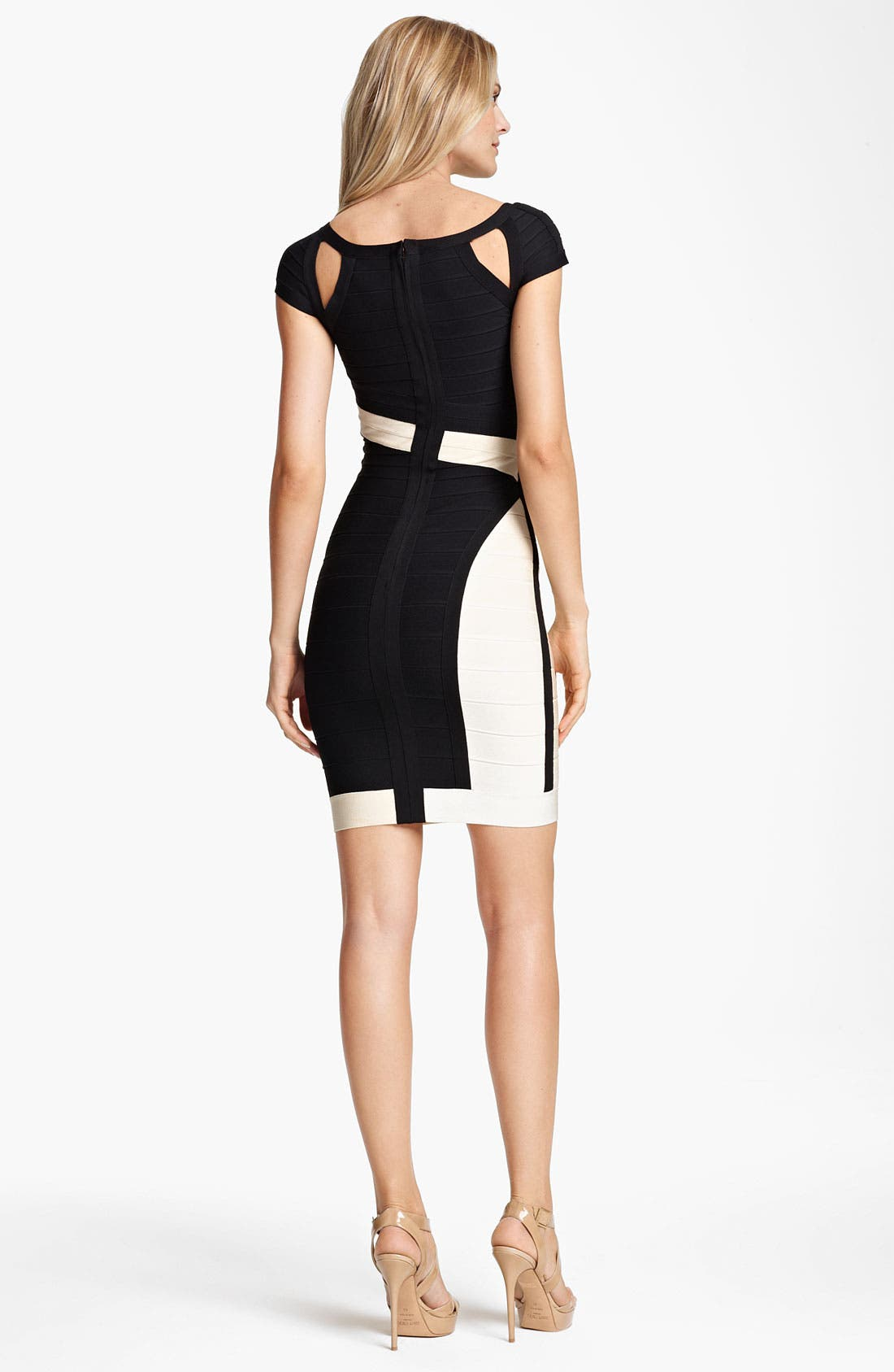 Alternate Image 2  - Herve Leger Colorblock Cutout Bandage Dress