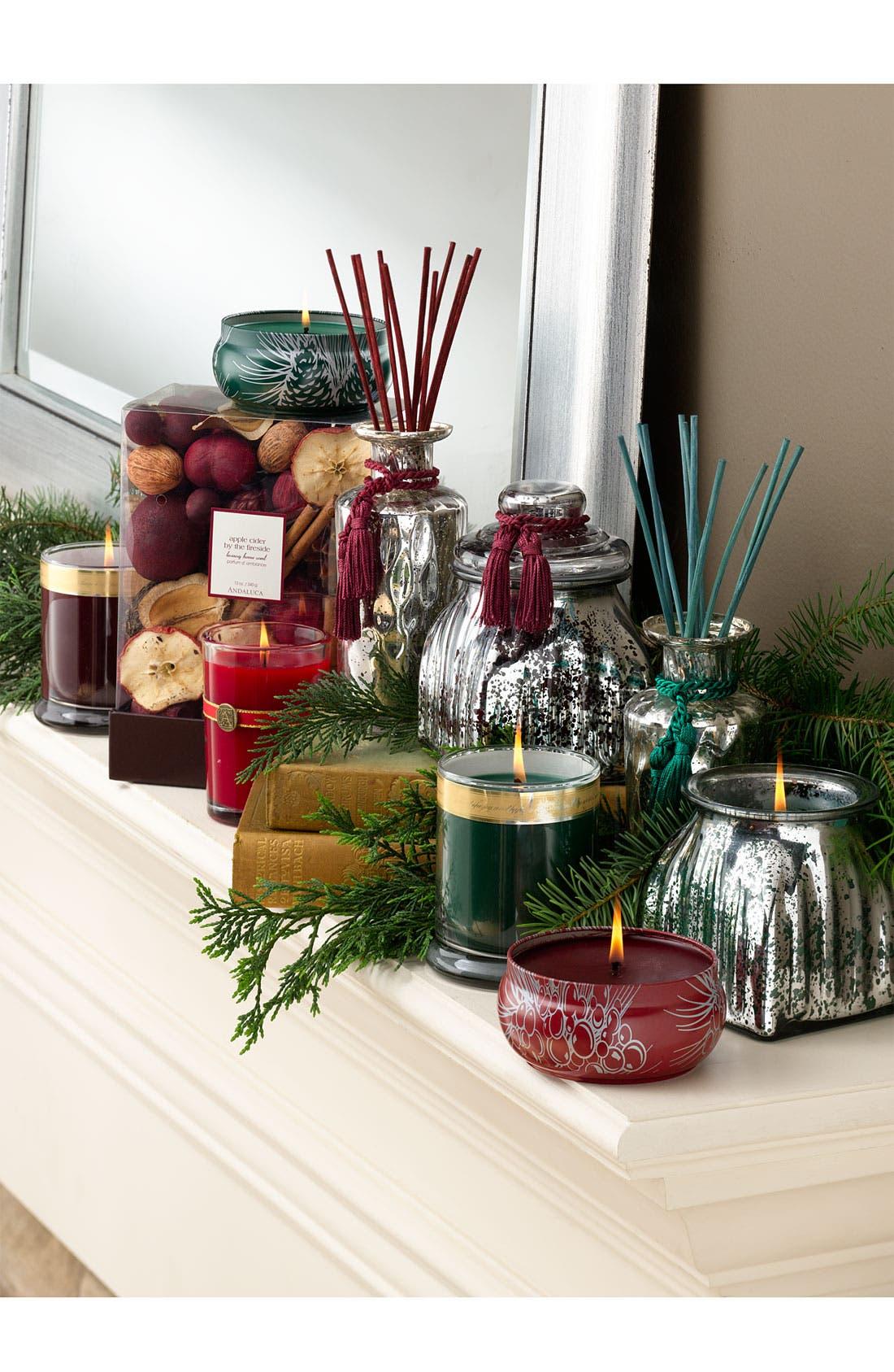 Alternate Image 2  - Archipelago Botanicals 'Hope of The Season' Mercury Glass Jar Candle
