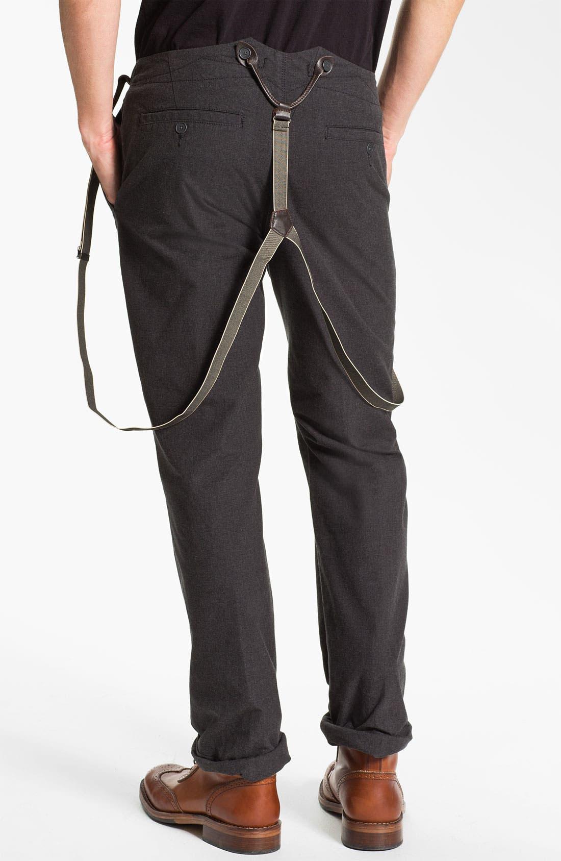 Alternate Image 2  - John Varvatos Star USA Slim Leg Trousers with Suspenders