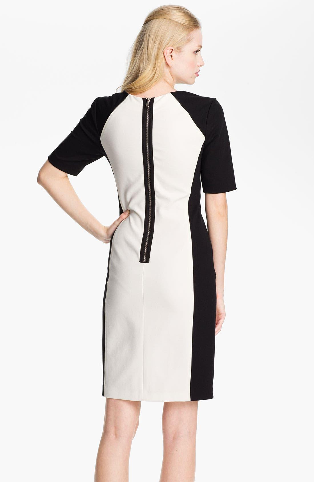 Alternate Image 2  - Rebecca Taylor Ponte Sheath Dress