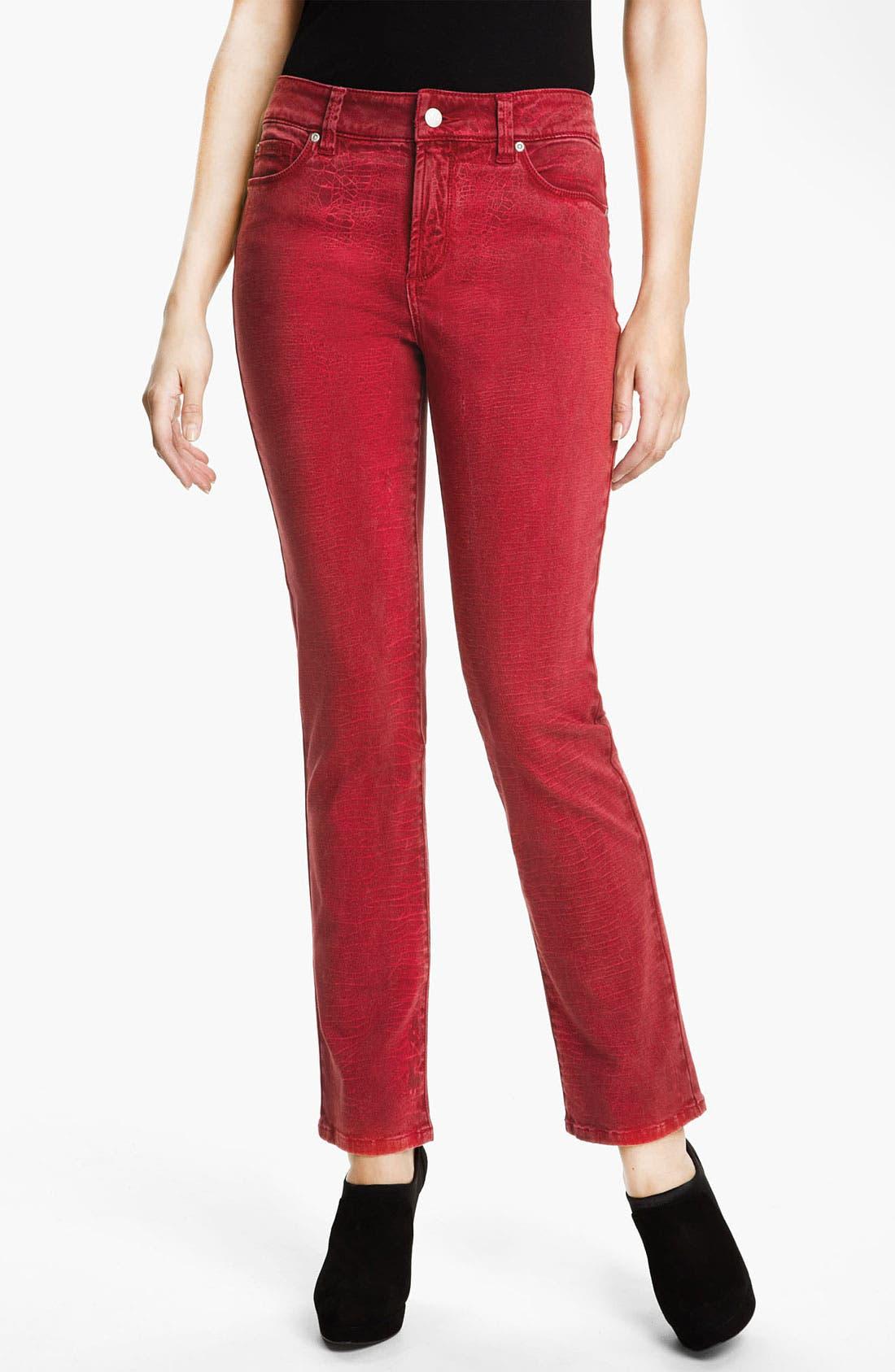 Alternate Image 1 Selected - NYDJ 'Sheri - Shattered' Print Skinny Twill Jeans