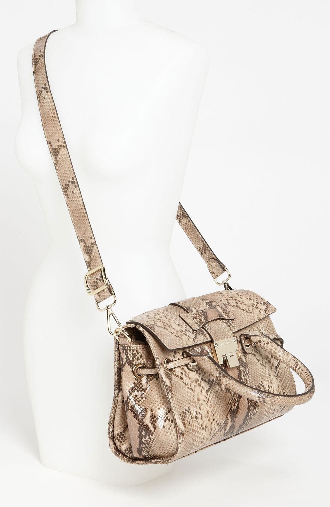 Alternate Image 2  - Jimmy Choo 'Rosalie' Snake Embossed Leather Satchel