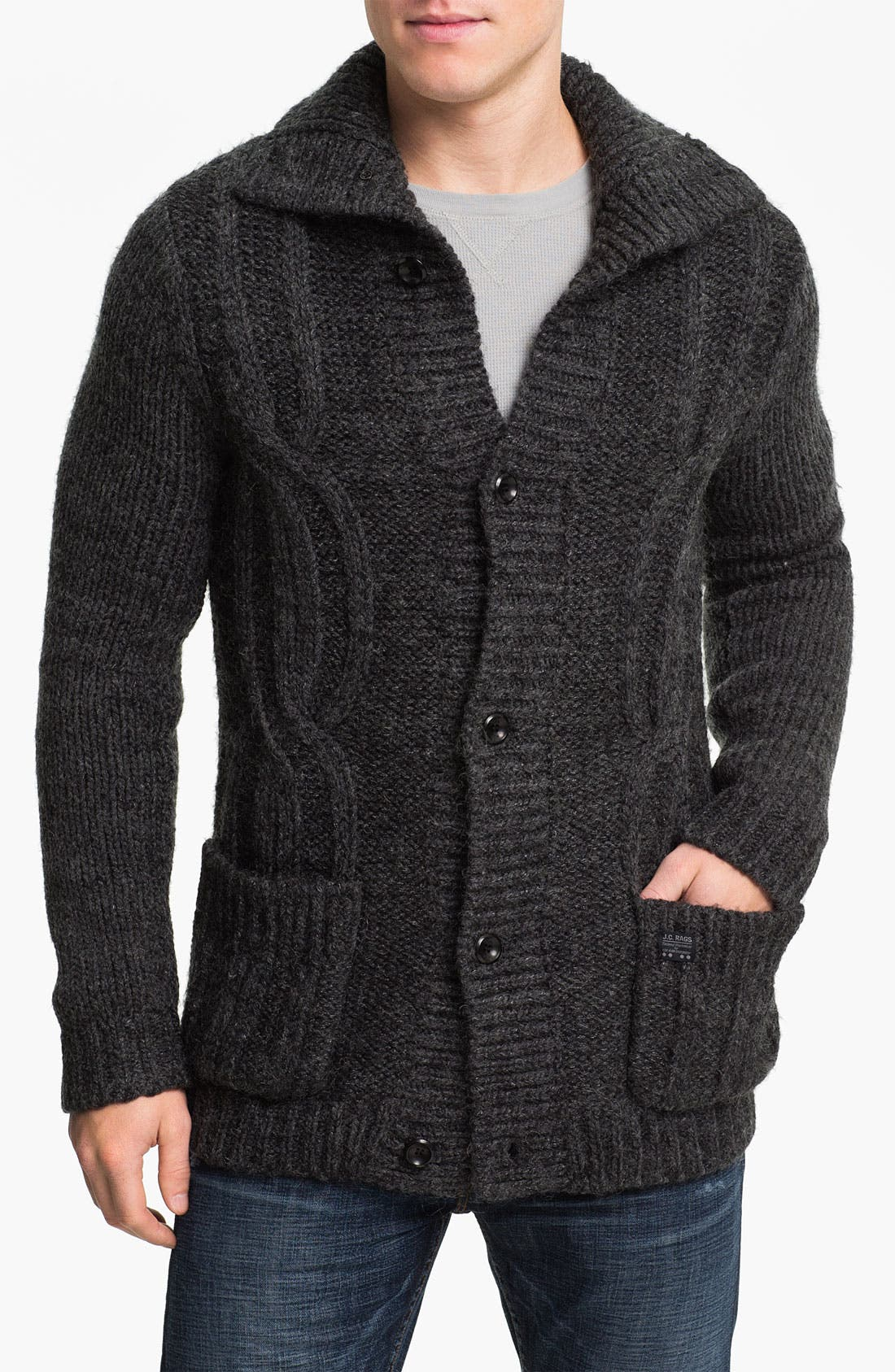 Alternate Image 1 Selected - J.C. Rags Cable Knit Cardigan