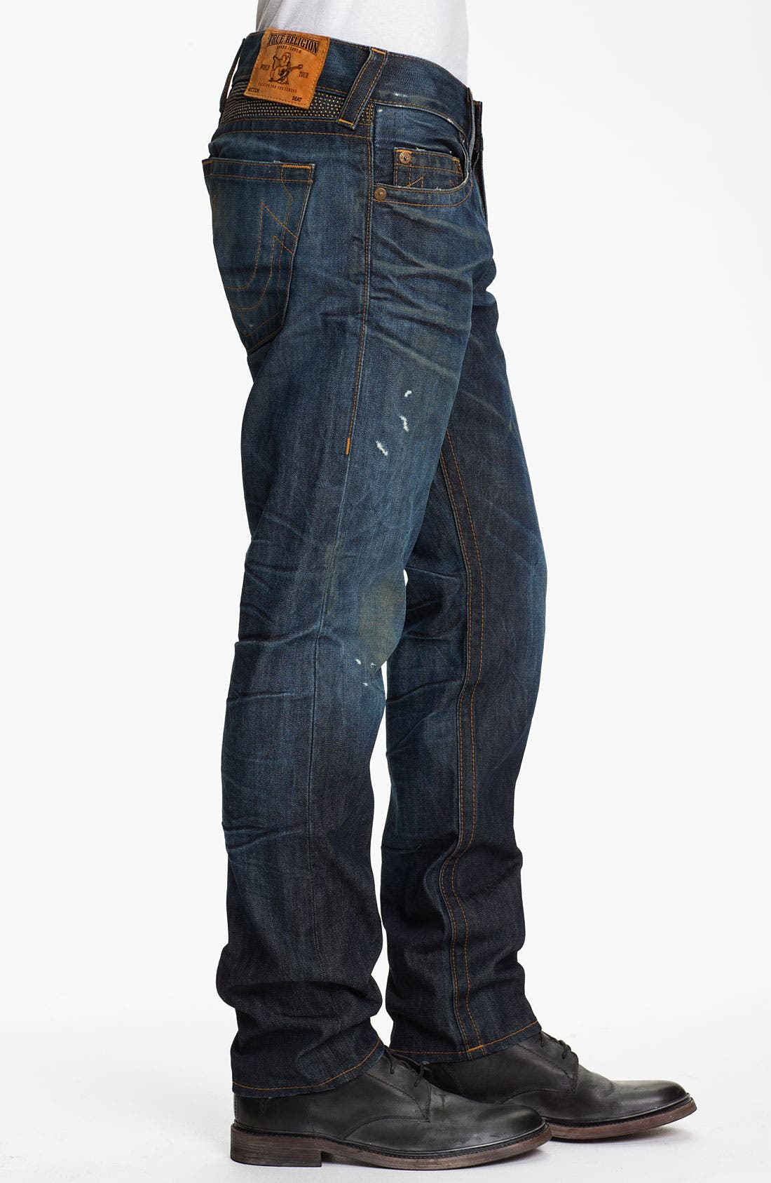 Alternate Image 3  - True Religion Brand Jeans 'Geno' Slim Straight Leg Jeans (Hideout)