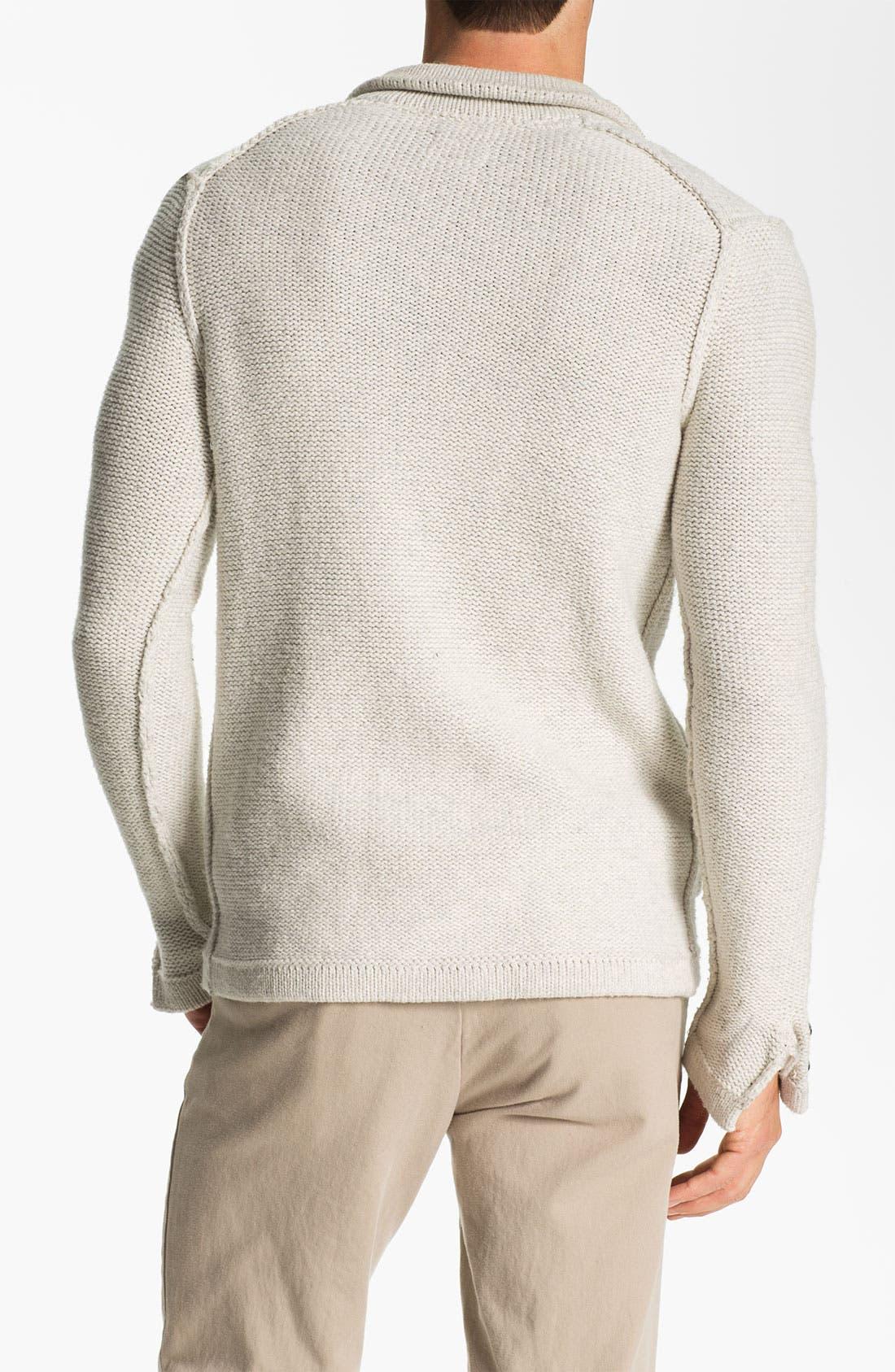 Alternate Image 2  - J.C. Rags Reverse Knit Three Button Sweater Blazer