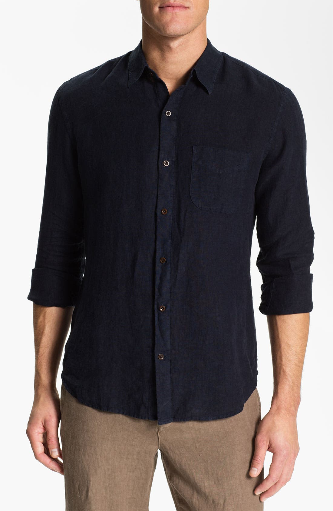 Alternate Image 1 Selected - Vince Woven Linen Shirt