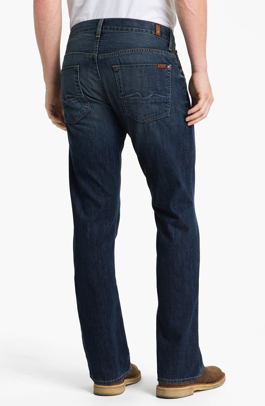 Alternate Image 1 Selected - 7 For All Mankind® 'Brett' Bootcut Jeans (Worn Blue)