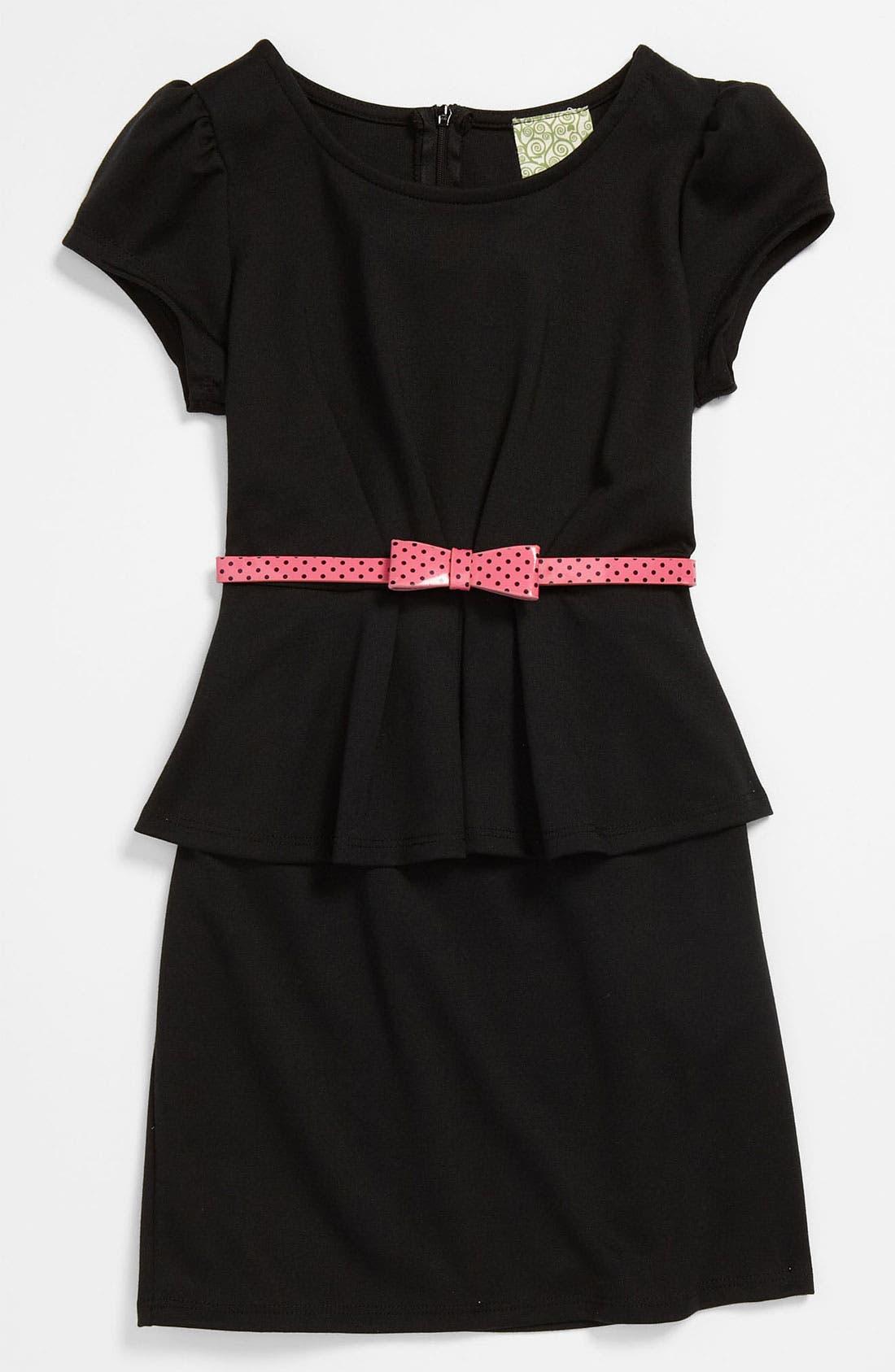 Alternate Image 1 Selected - Kiddo Knit Peplum Dress (Big Girls)