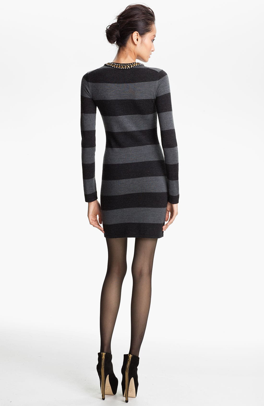 Alternate Image 2  - Gryphon Studded Collar Rugby Stripe Sweater Dress